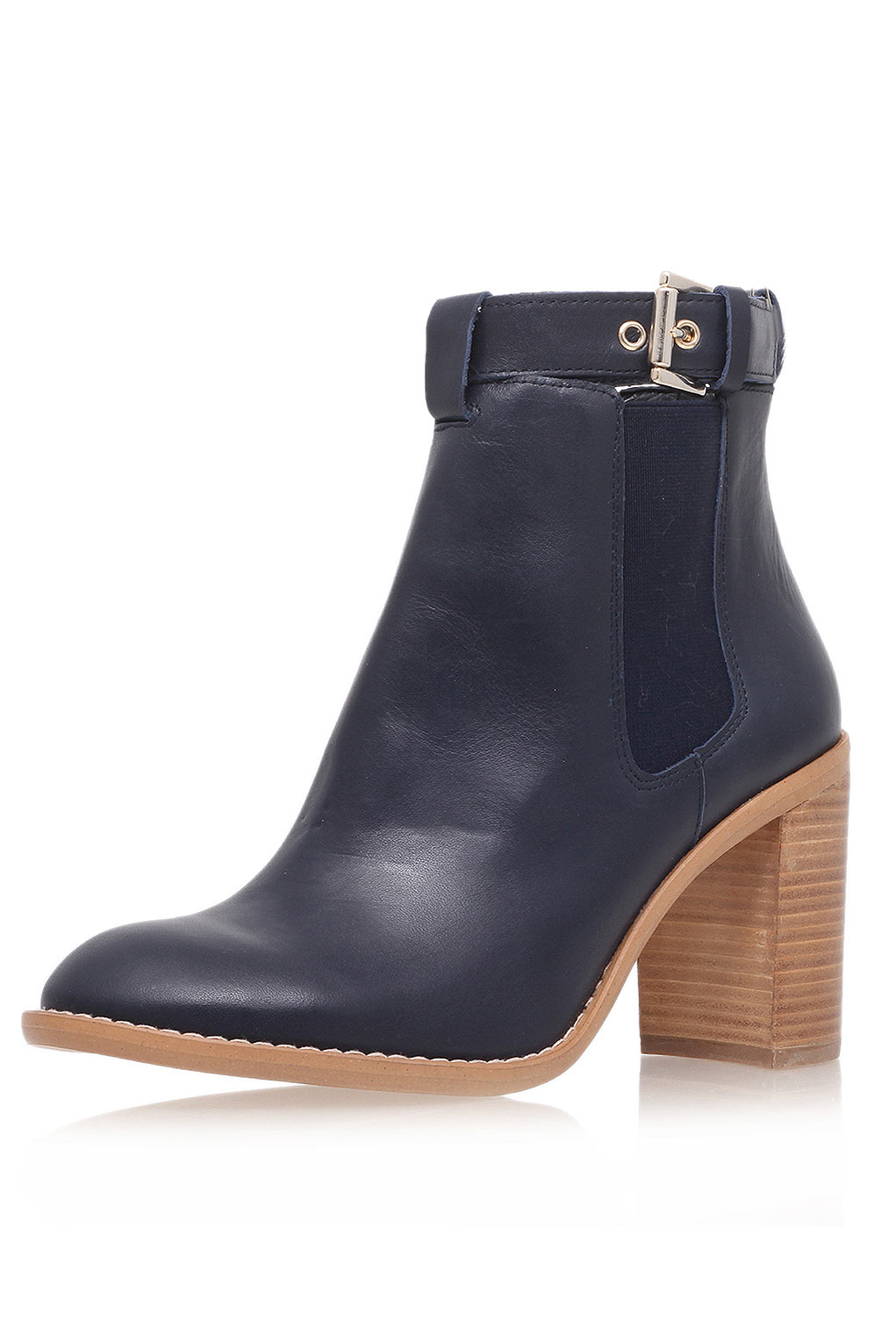 topshop high heeled leather ankle boots by kurt geiger in