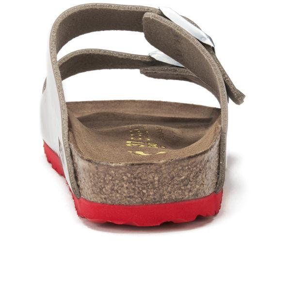 a0cd07a9522d Birkenstock Women S Arizona Slim Fit Double Strap Patent Contrast Sole  Sandals in Brown - Lyst