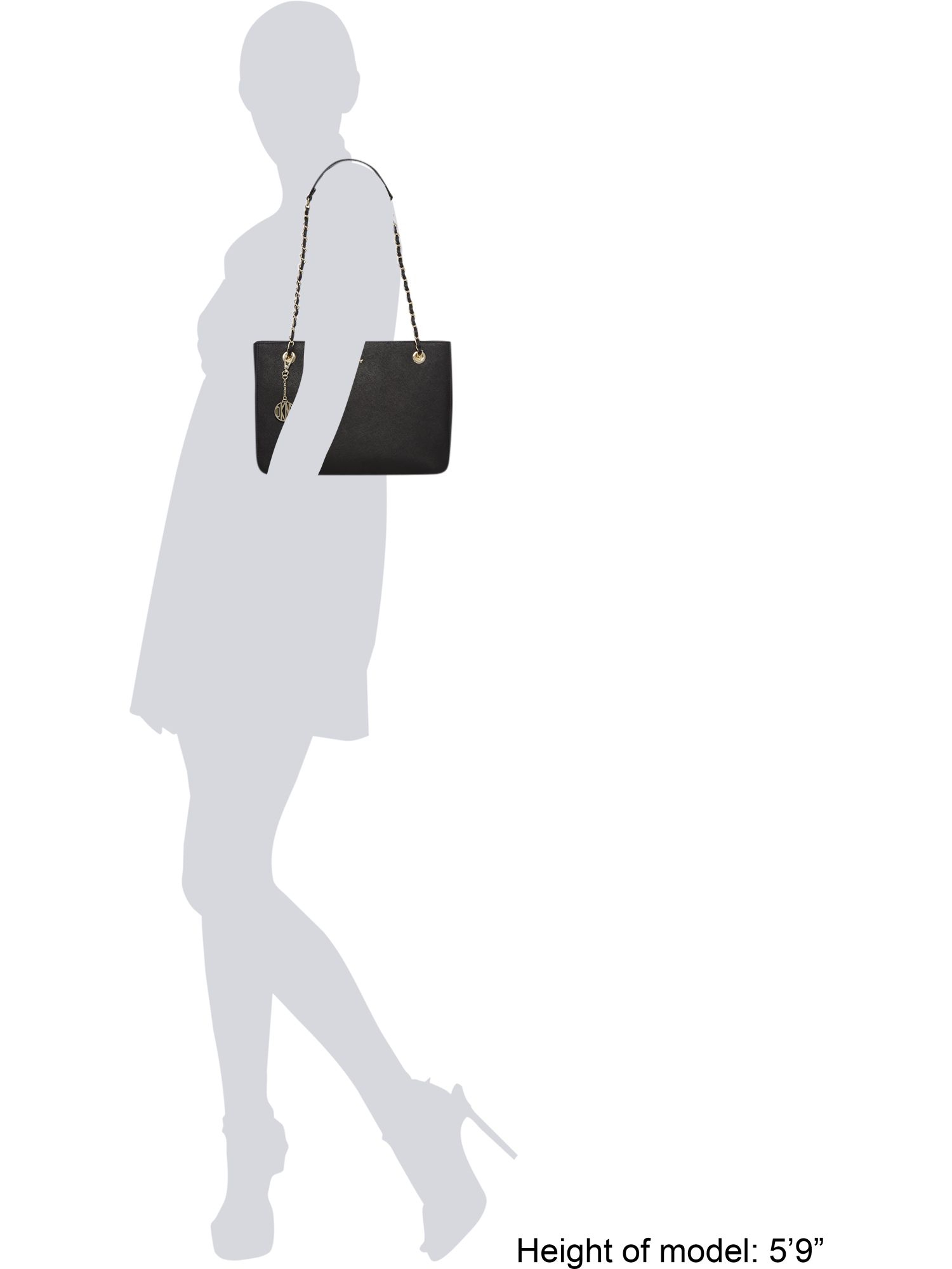 DKNY Saffiano Black Medium Tote Bag