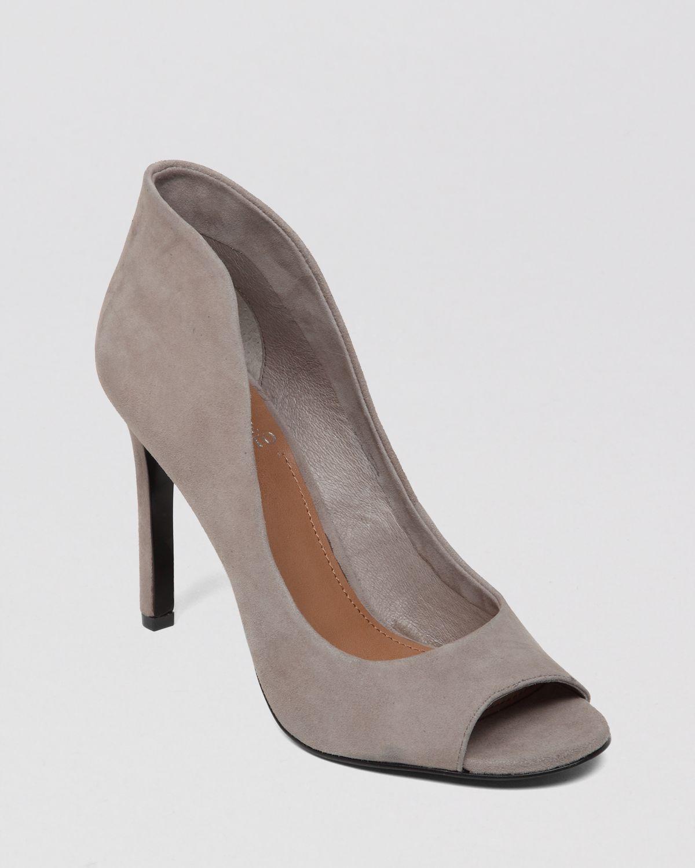 192f171c235 Lyst - Vince Camuto Peep Toe Pumps Karolynn High Heel in Gray