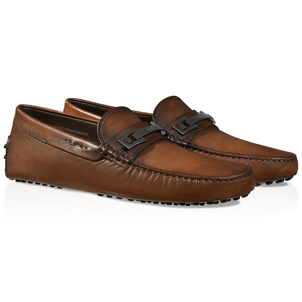 Tod's Gommino Driving Shoes In Leather in Brown for Men | Lyst