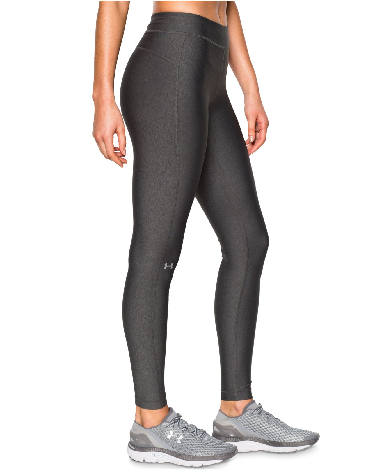 Under armour Heatgear Leggings in Black (Carbon Heather ...