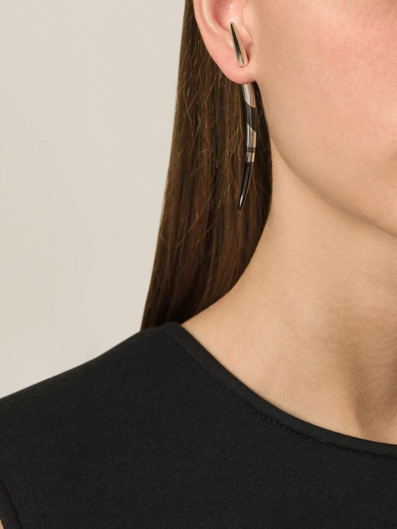 Shaun Leane Silver Quill Earrings pA7NZ