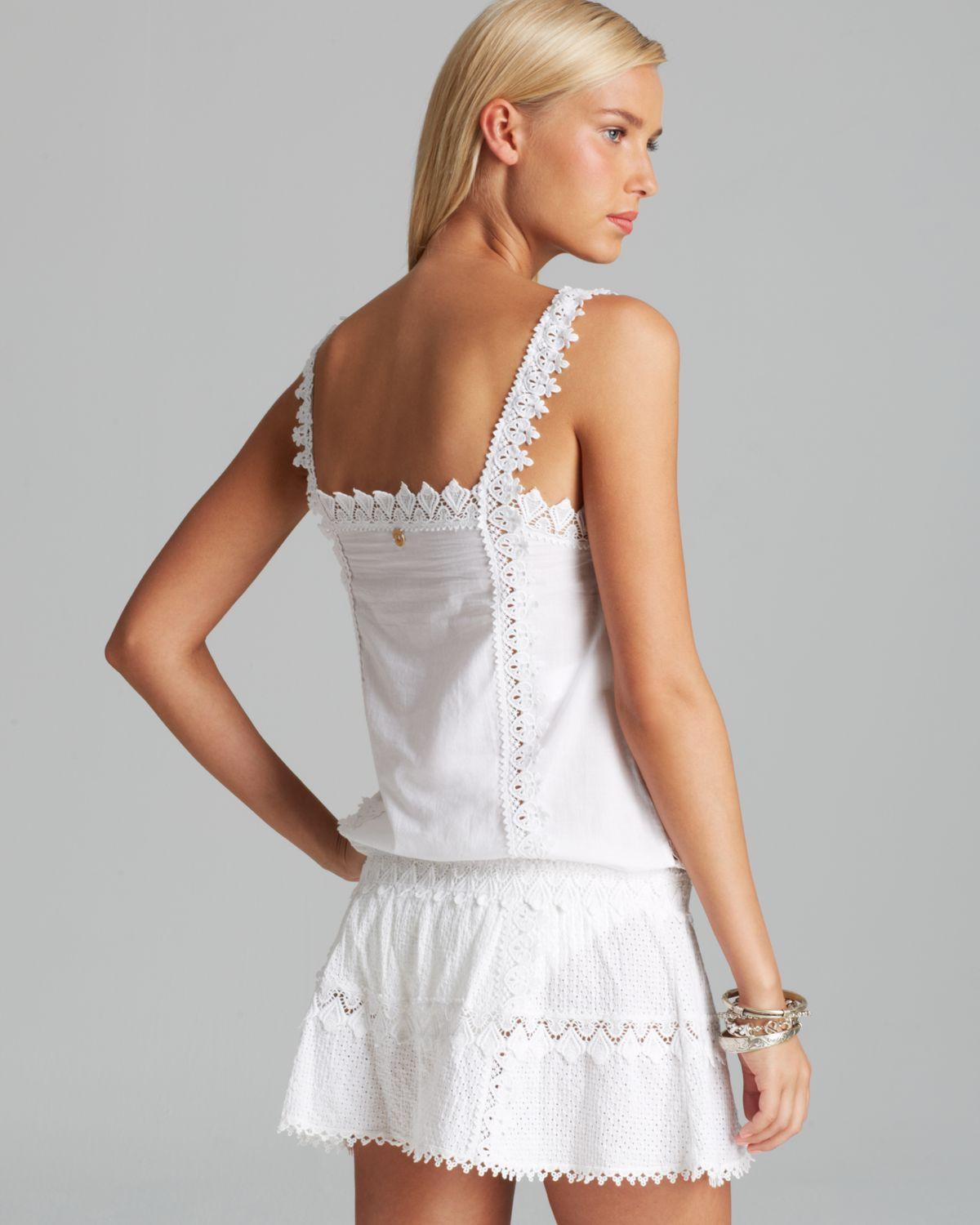 Ondademar Eden Hues Swim Cover Up Dress In White