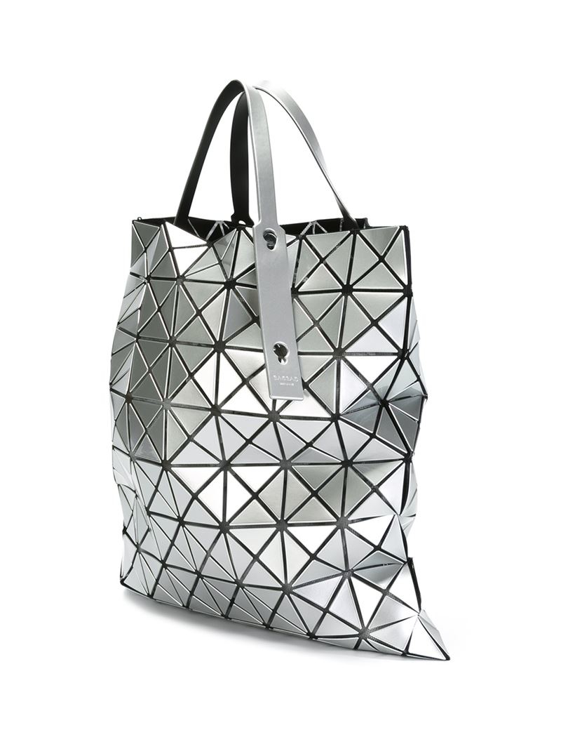 Issey Miyake geometric patterned tote bag Footaction Clearance Order ZzLogy