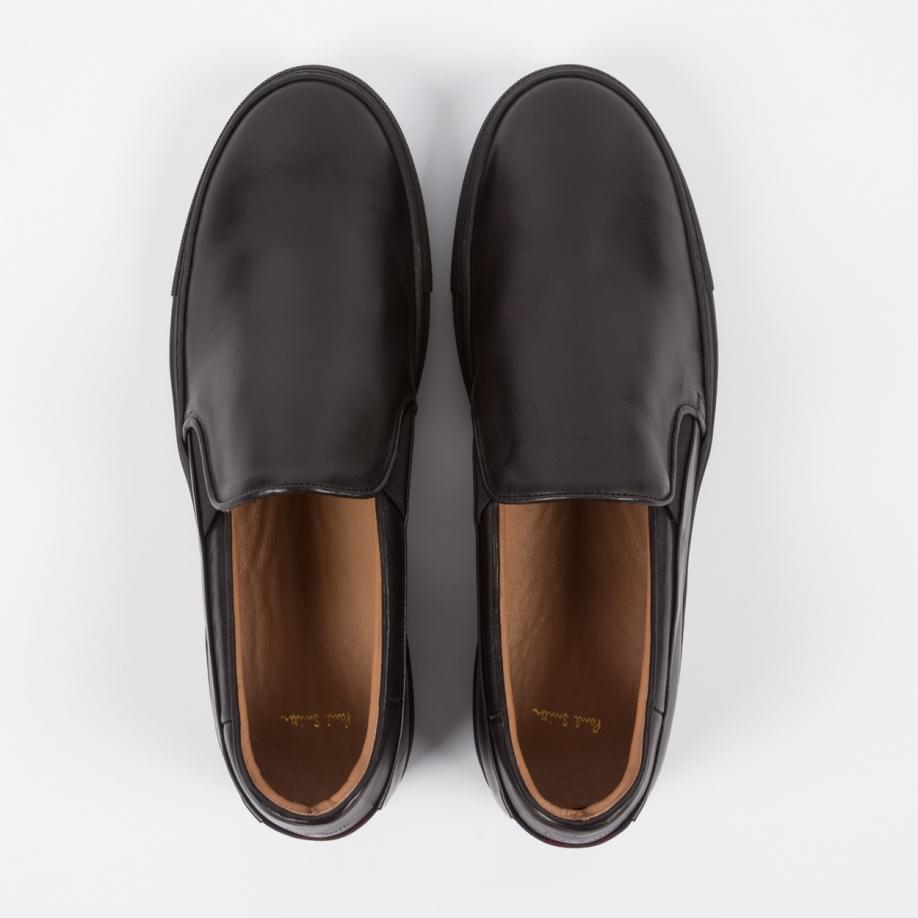 innovative design presenting outlet boutique Men's Black Calf Leather 'zorn' Slip-on Trainers