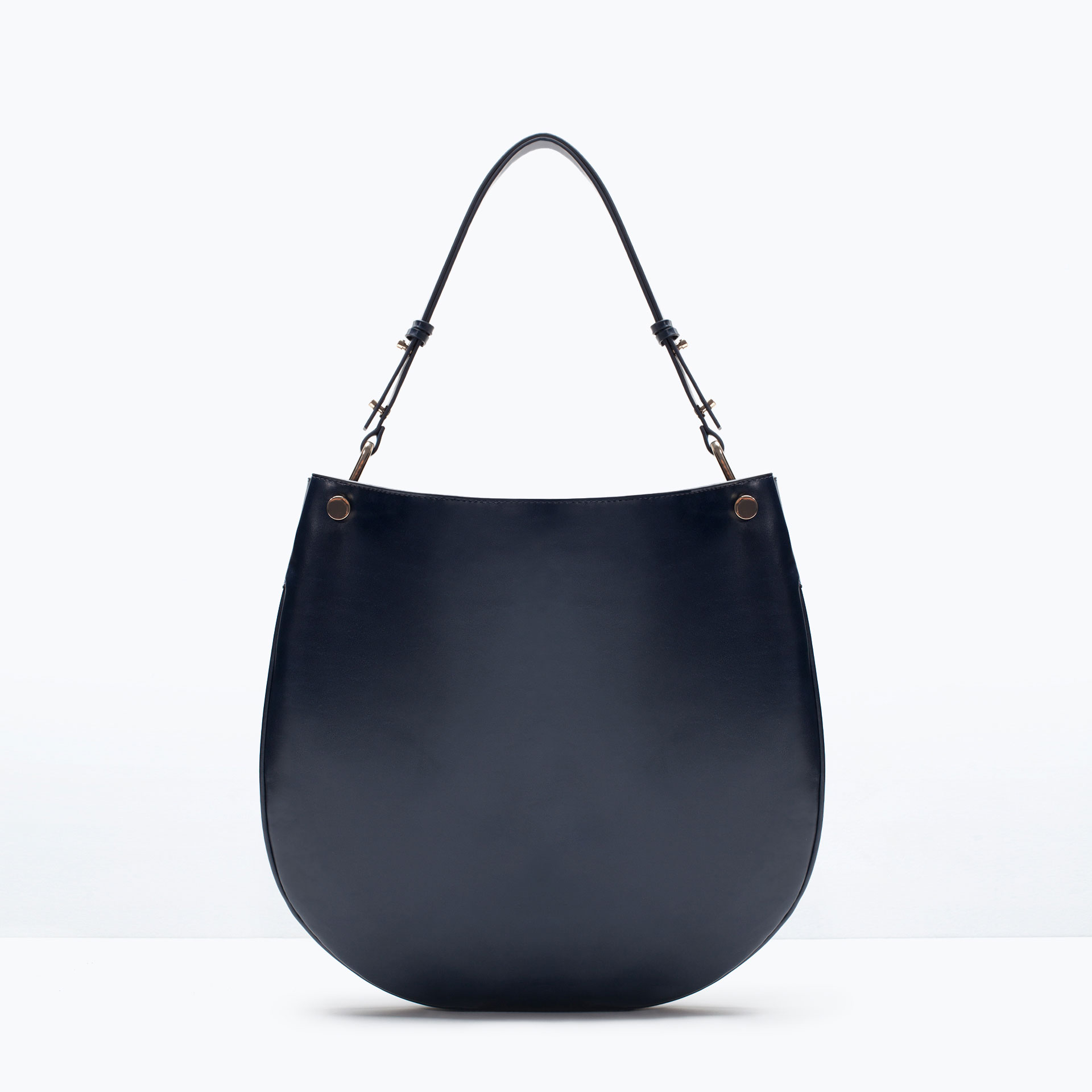 Zara Compartmented Bucket Bag In Blue | Lyst