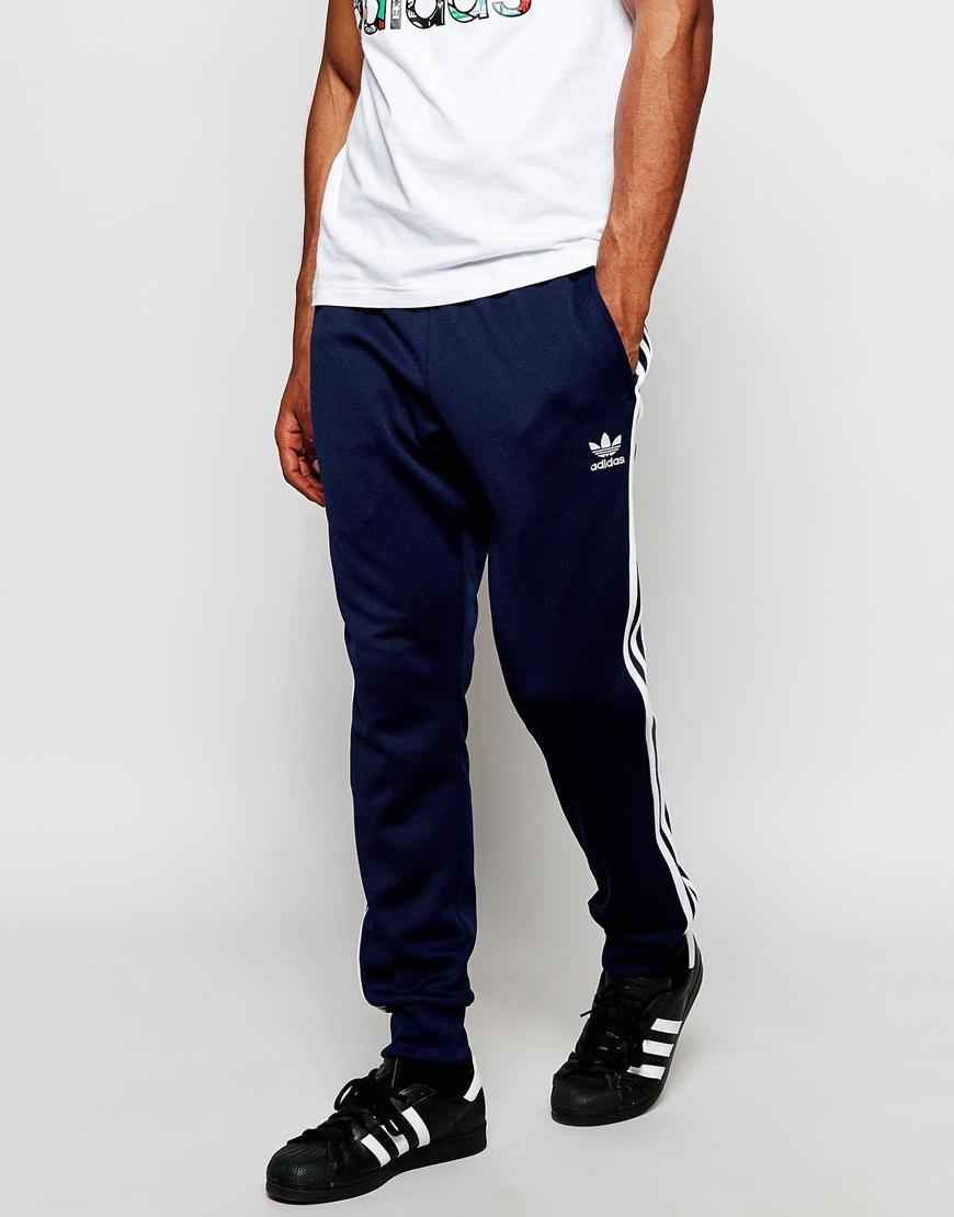 adidas Originals Mens Superstar Cuffed Trackpants - Navy