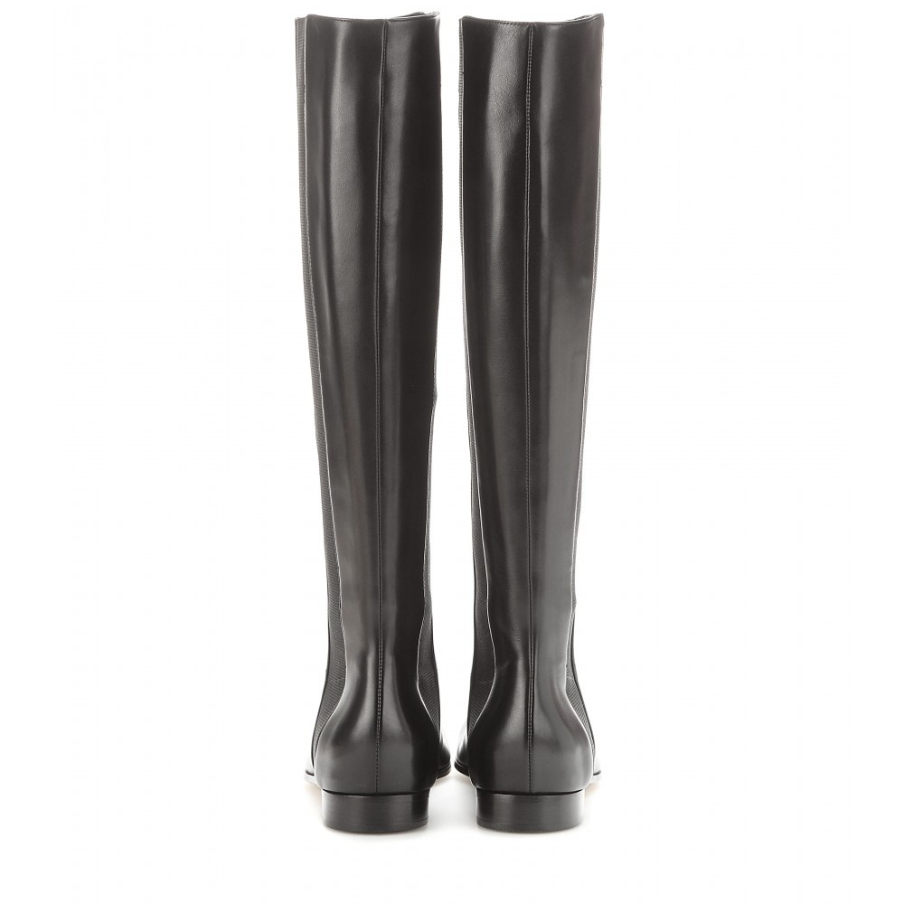 Jimmy Choo Faith Leather Knee-High Boots in Black
