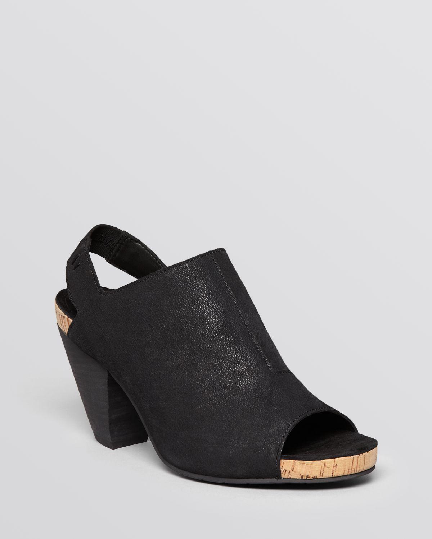 Lyst Eileen Fisher Open Toe Sandals Cone In Black