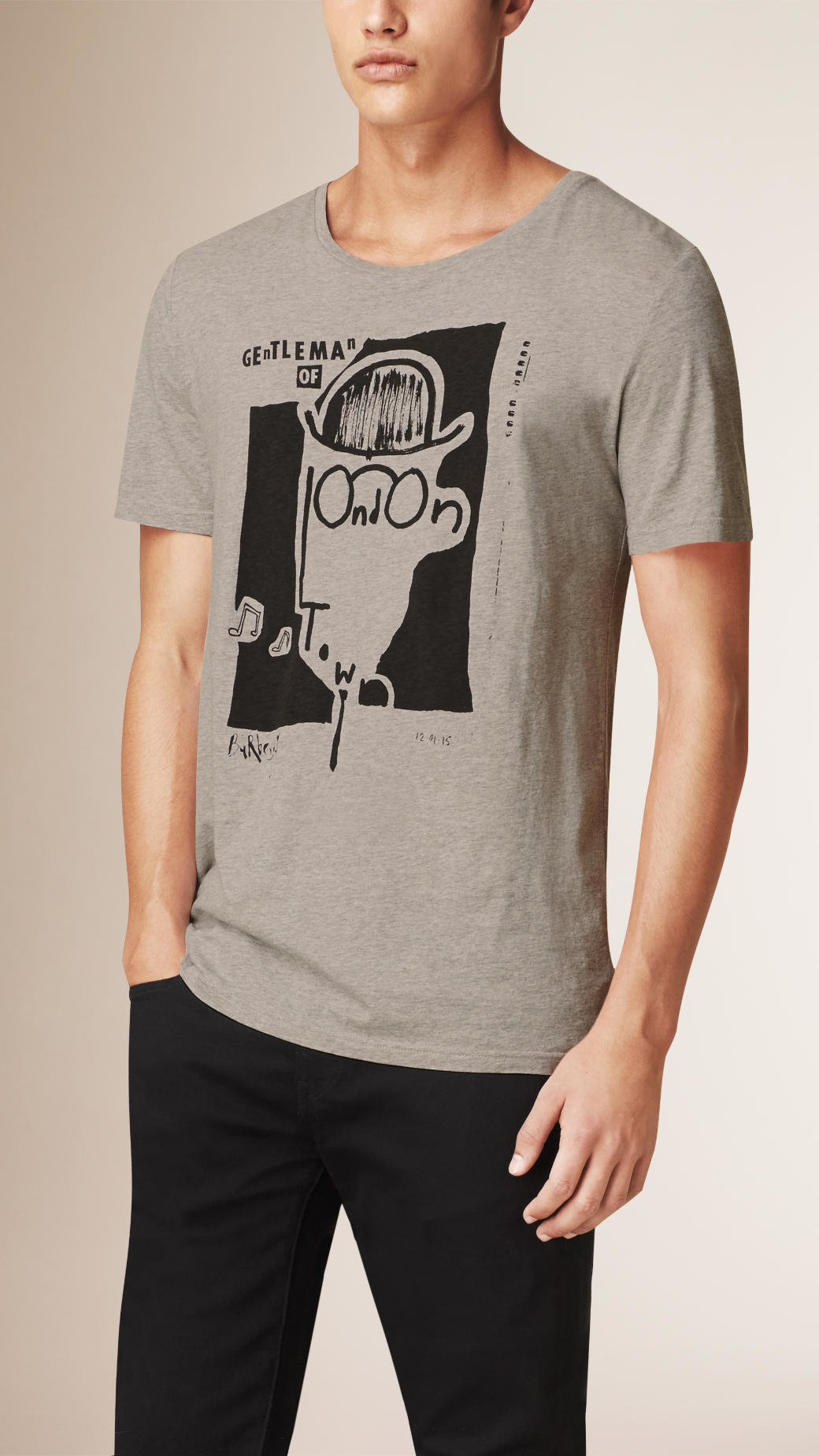 Burberry Gentleman Of London Graphic Cotton T Shirt In