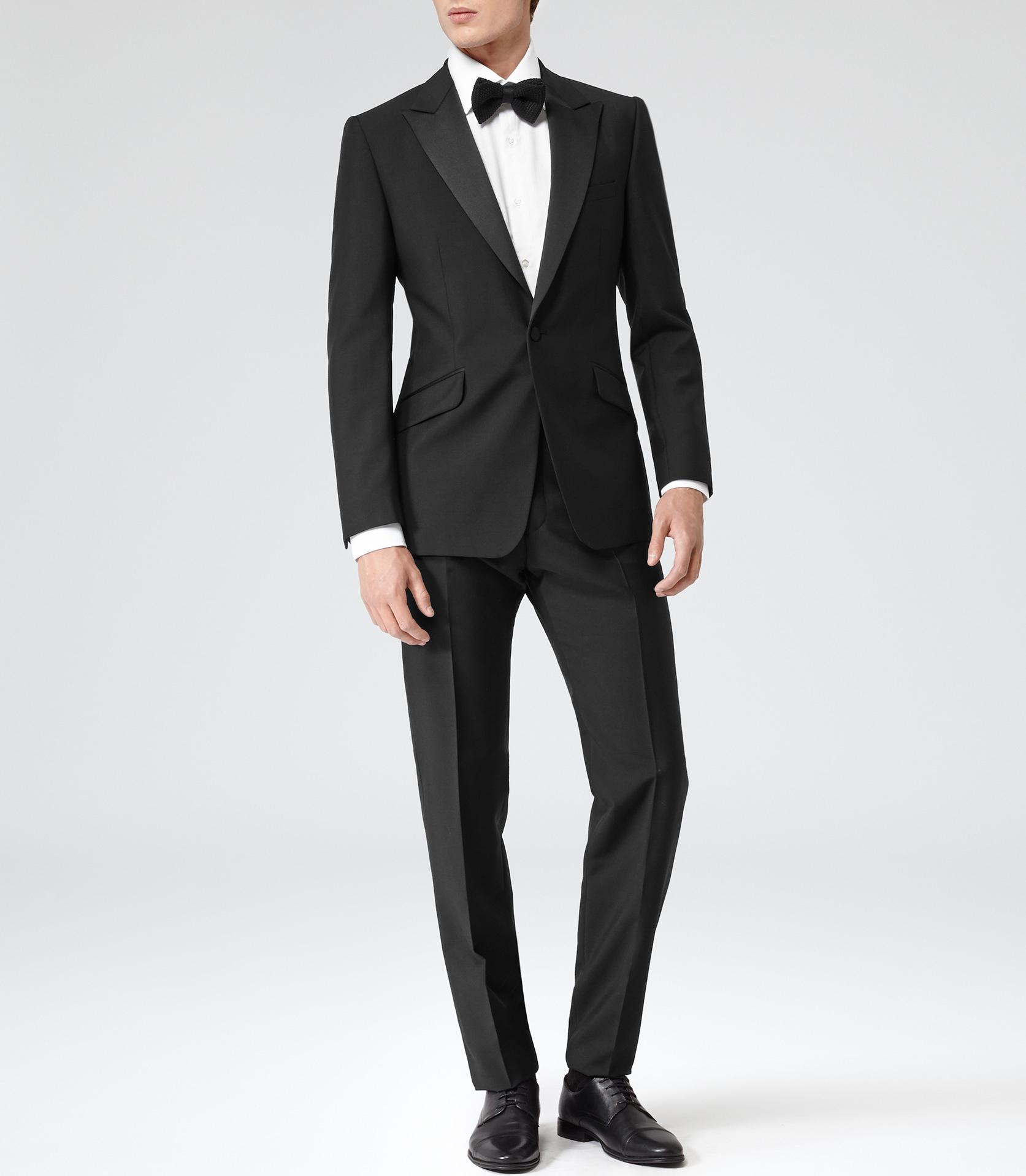 Tuxedo: Reiss Mayfair Peak Lapel Tuxedo In Black For Men
