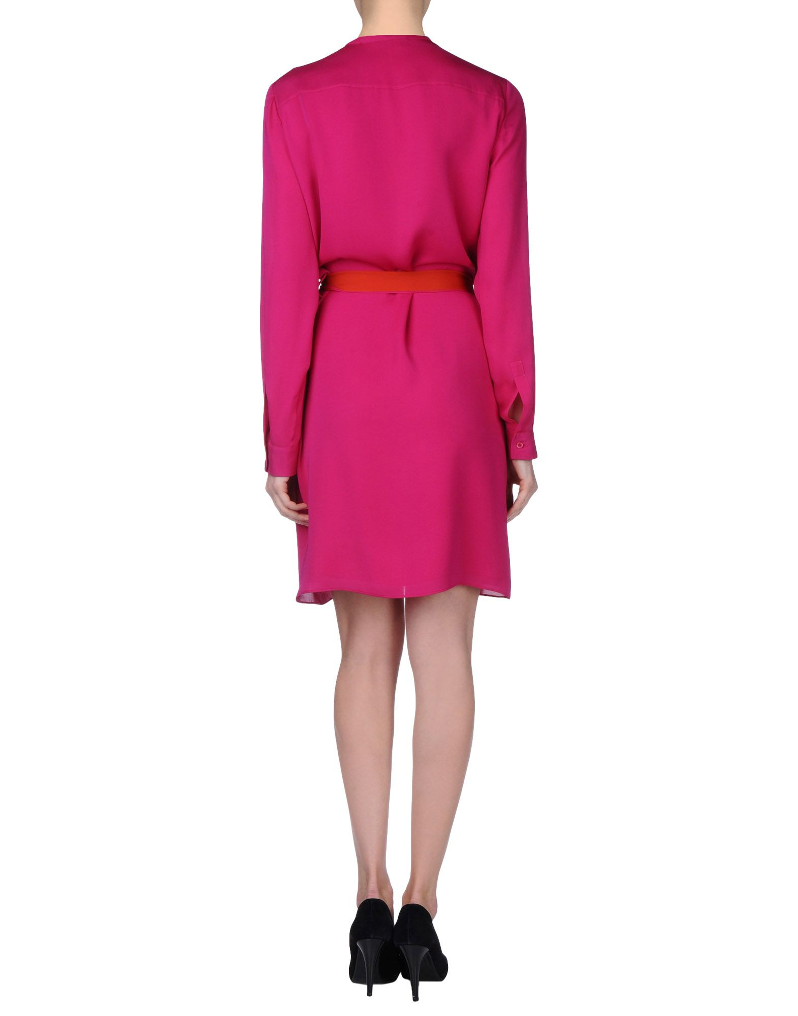 lyst gucci short dress in pink
