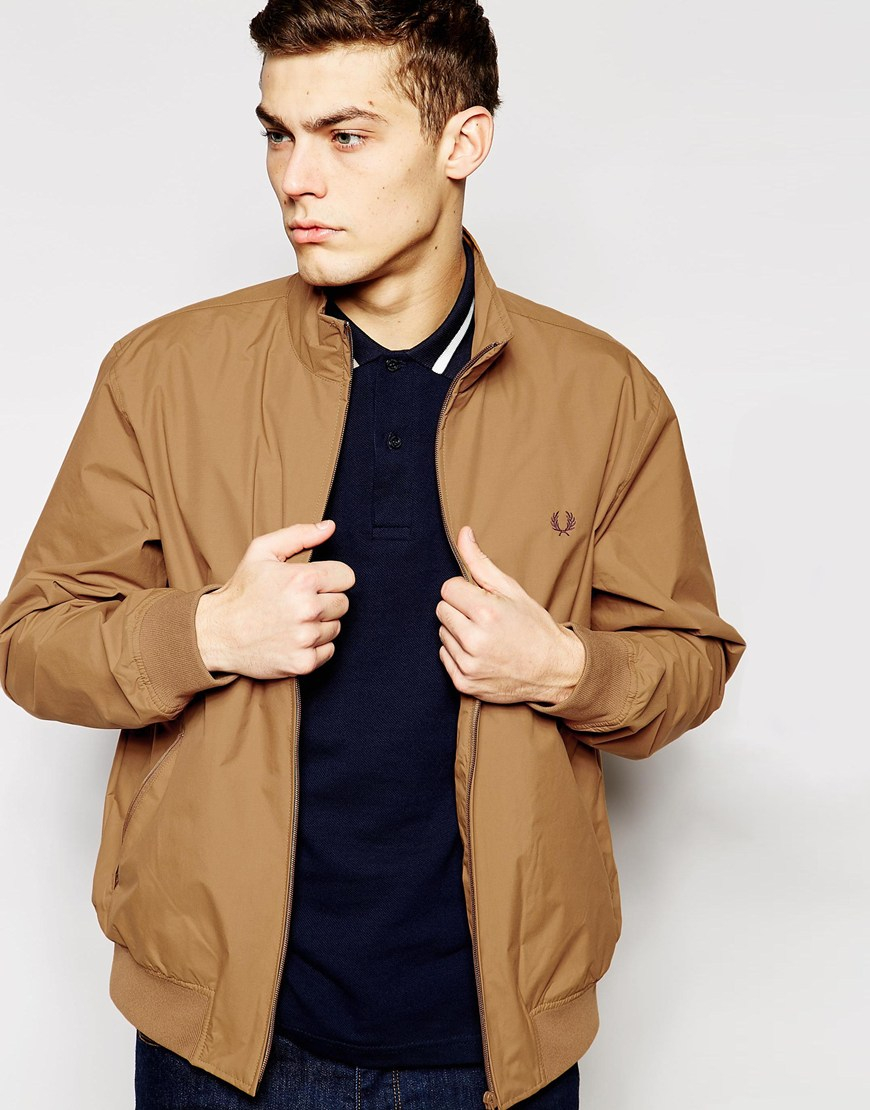 lyst fred perry sailing jacket in brown for men. Black Bedroom Furniture Sets. Home Design Ideas