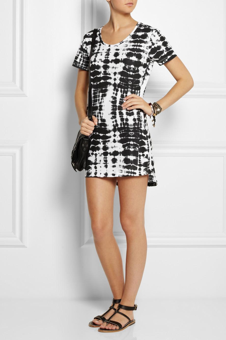 Lyst - Ksubi Xray Tie Dye Cotton Mini Dress in Black