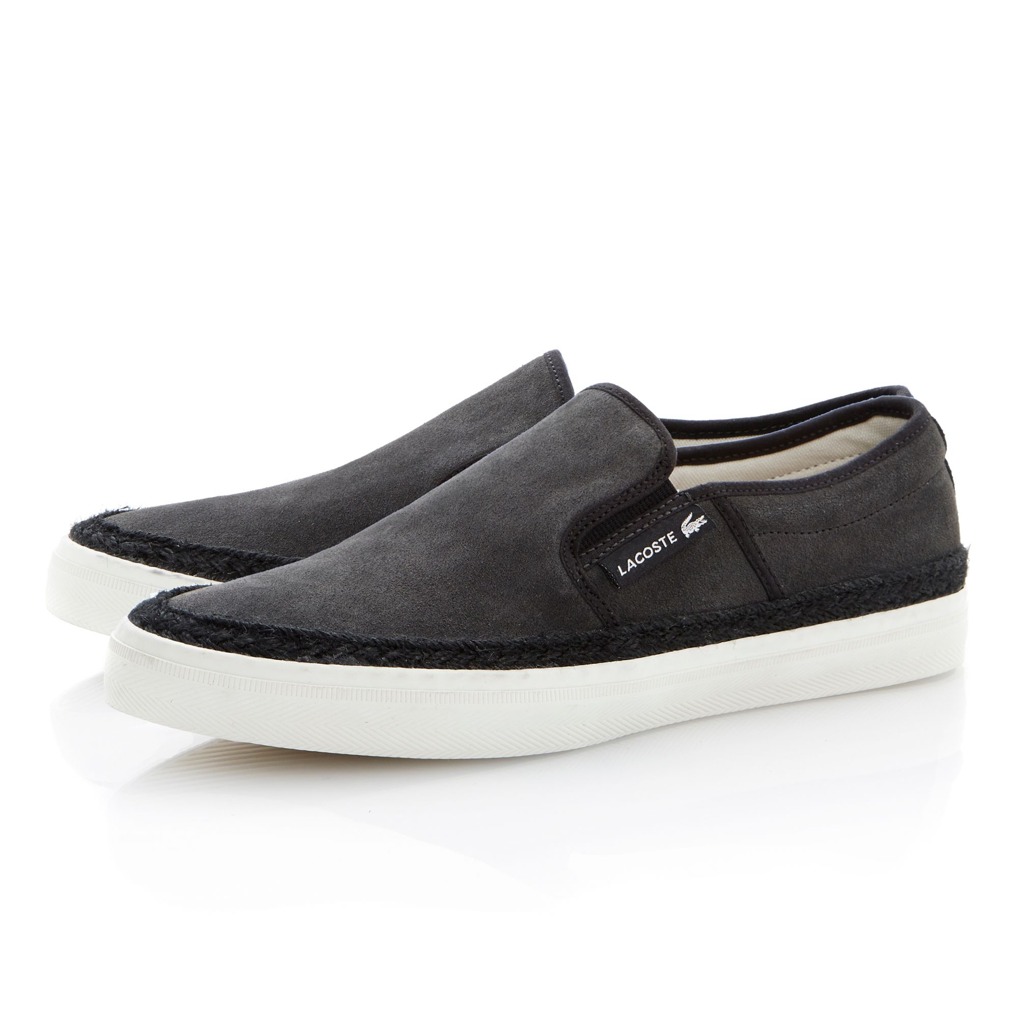 Lacoste Gazon 2 Apron Slip On Casual Shoes in Gray for Men ...