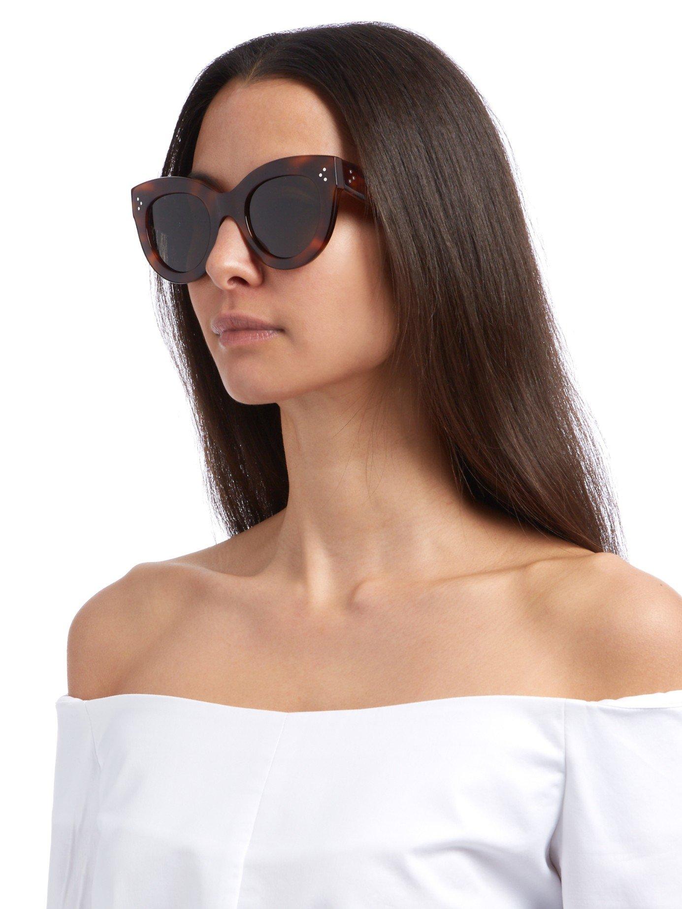 80d58849c96 Lyst - Céline Cat-eye Acetate Sunglasses in Red