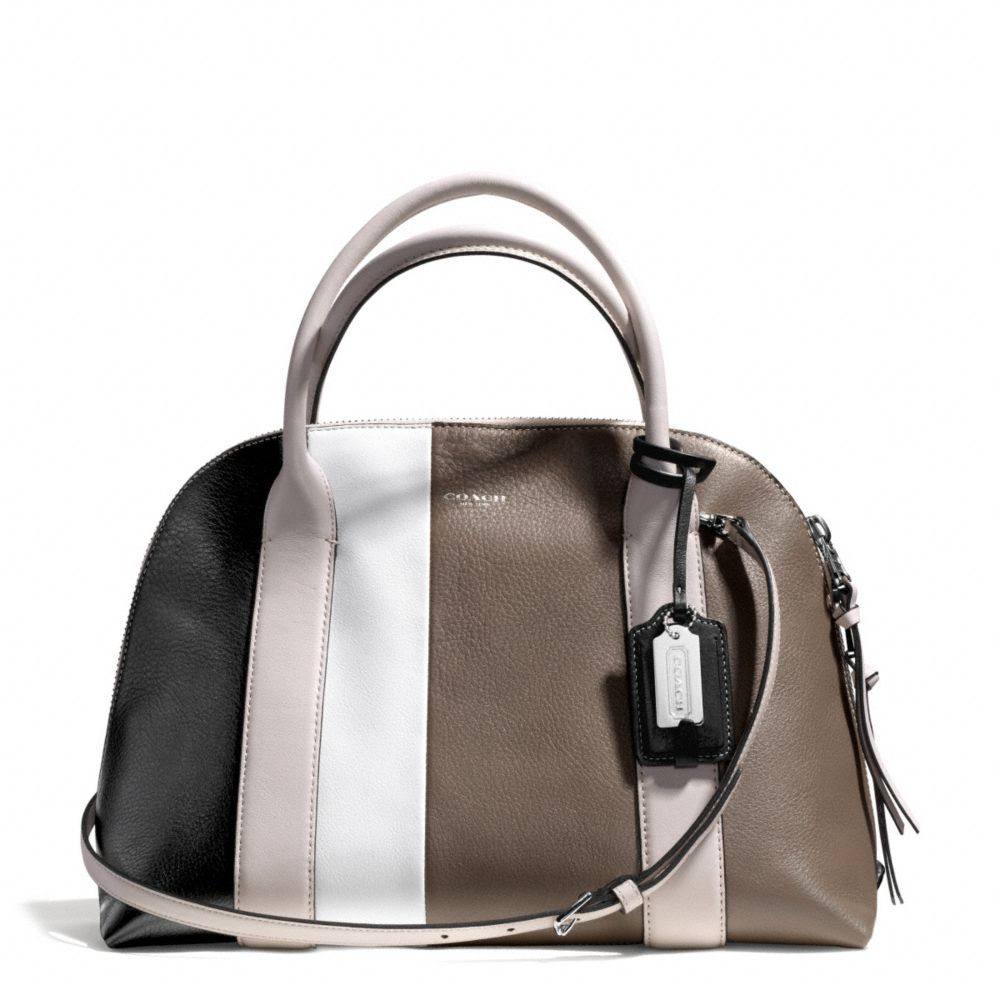 coach bleecker preston satchel in colorblock leather in brown lyst. Black Bedroom Furniture Sets. Home Design Ideas