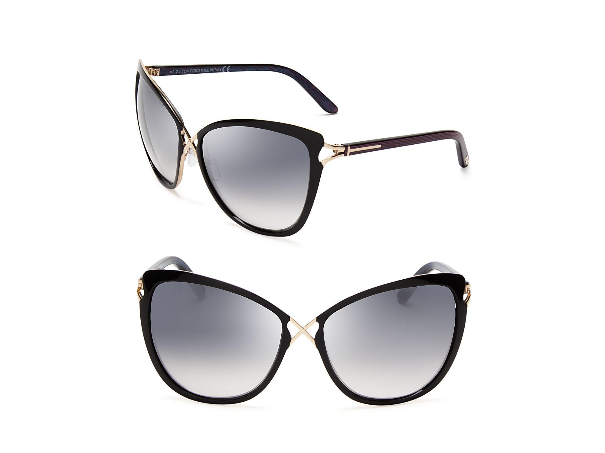 Tom Ford Celia Cat Eye Sunglasses In Black Lyst