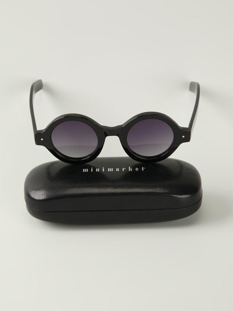 98404a3614c1 Minimarket Fish Eye Sunglasses In Black Lyst