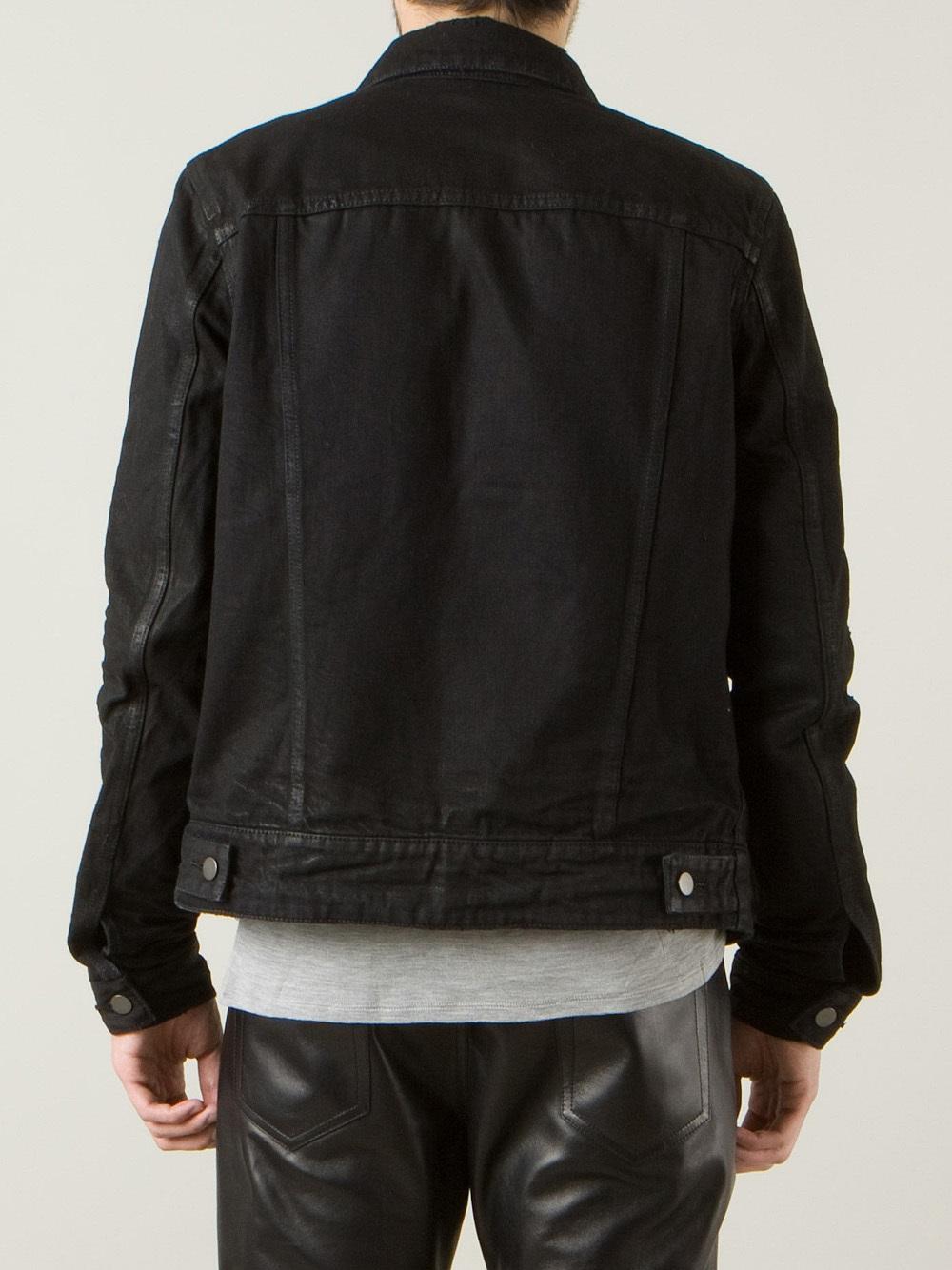 Balmain Distressed Denim Jacket in Black for Men