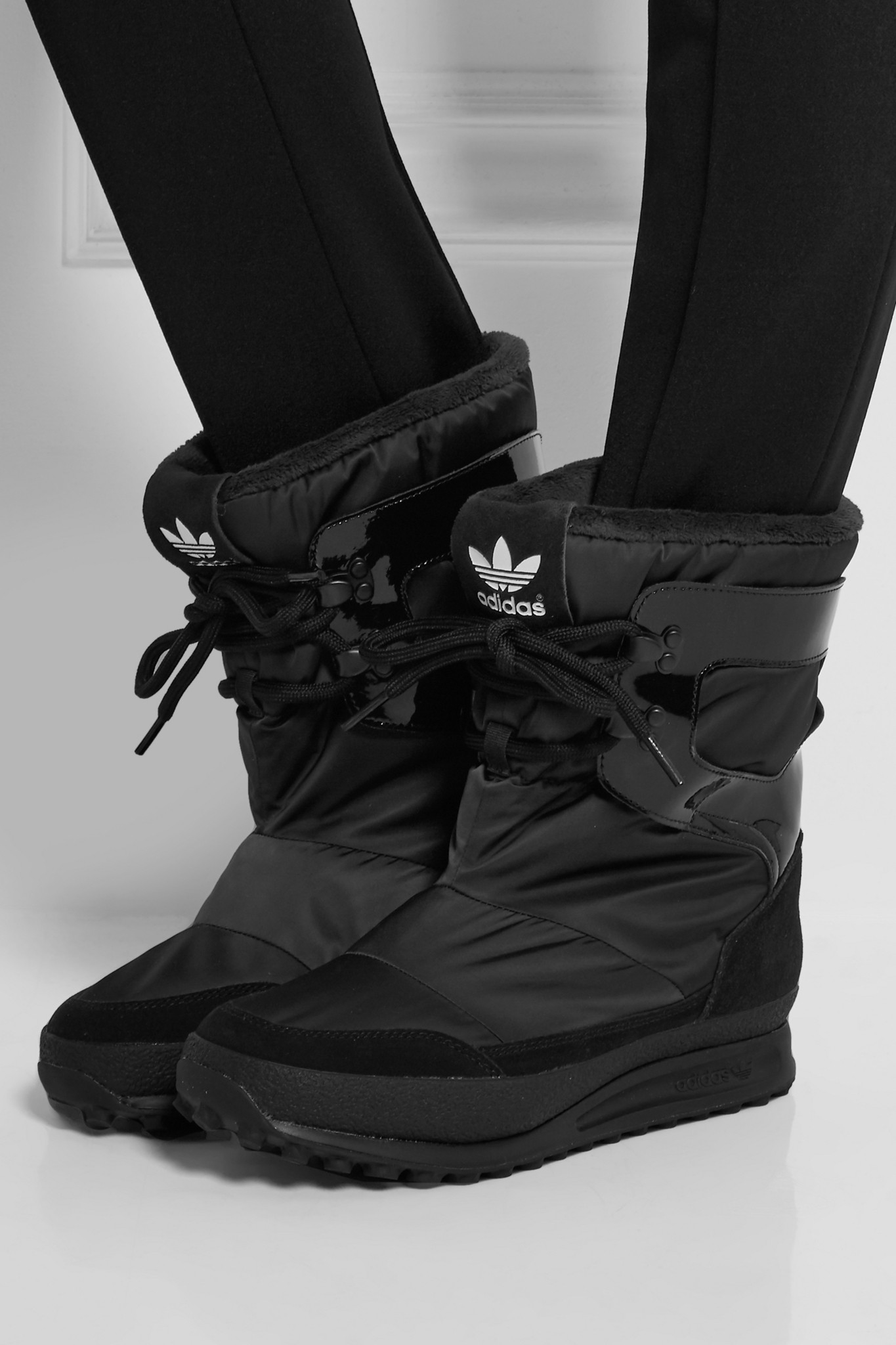 adidas originals snowrush shell patent leather and suede