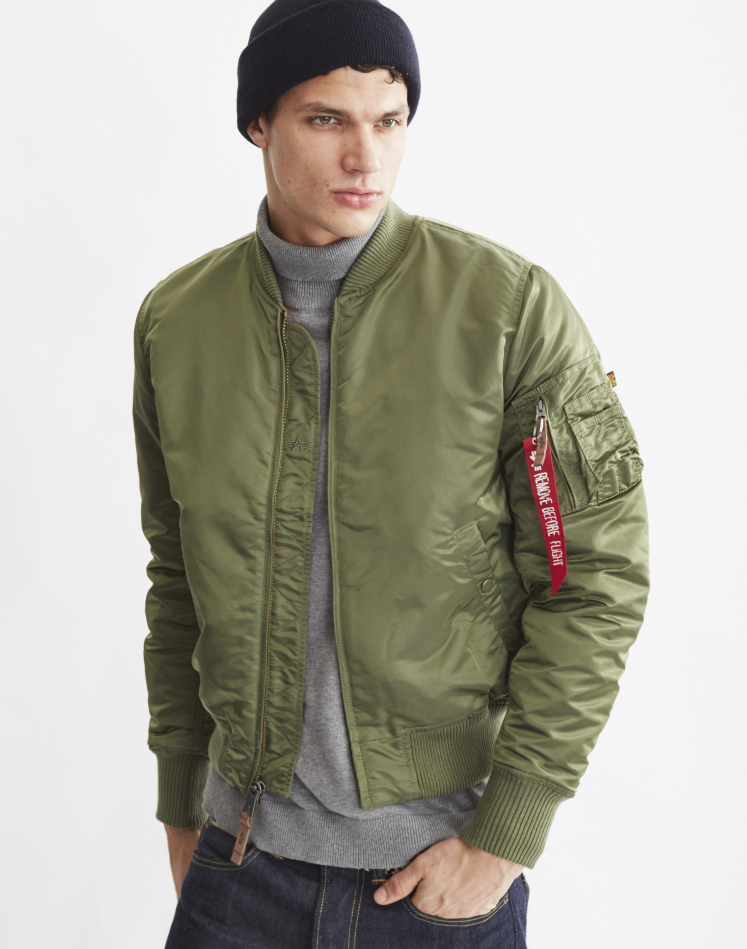 alpha industries ma1 satin bomber jacket in green for men. Black Bedroom Furniture Sets. Home Design Ideas