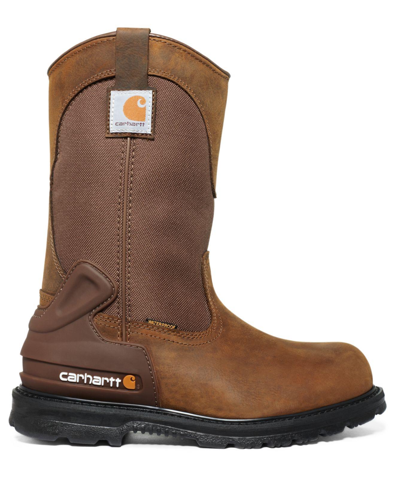 13b94176e78 Carhartt Brown 11-Inch Bison Waterproof Steel Toe Work Boots for men