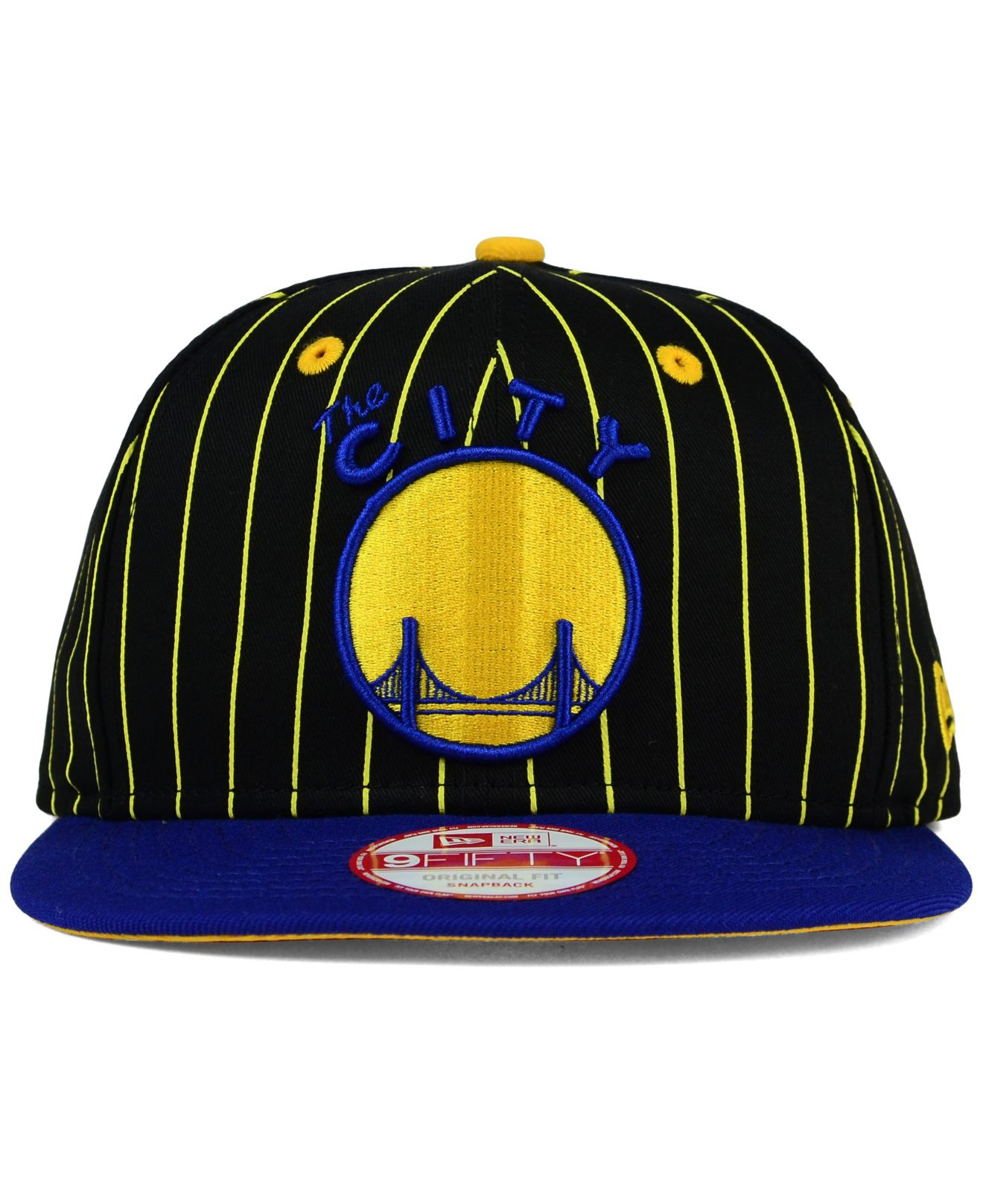 a5431e11a945f9 KTZ Golden State Warriors Vintage Pinstripe 9fifty Snapback Cap in ...