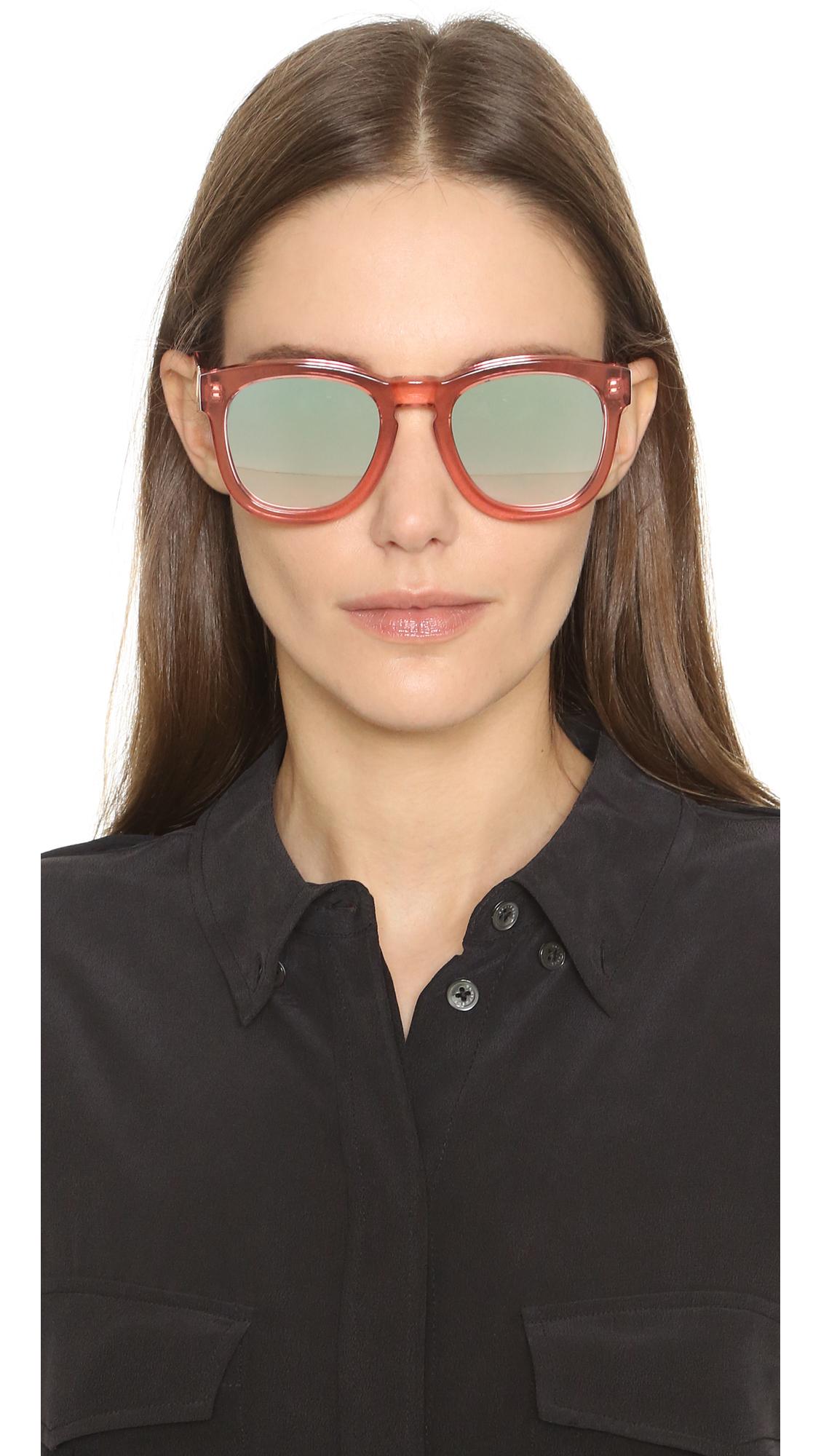 b621053f589 Lyst - Wildfox Classic Fox Sunglasses in Pink