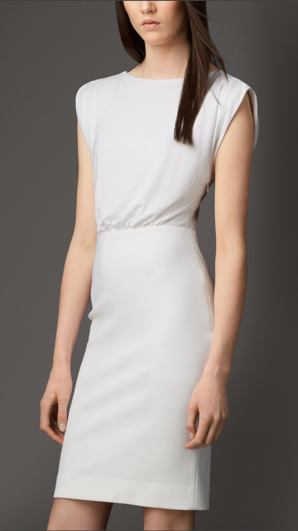 Lyst Burberry Lace Back Dress In White