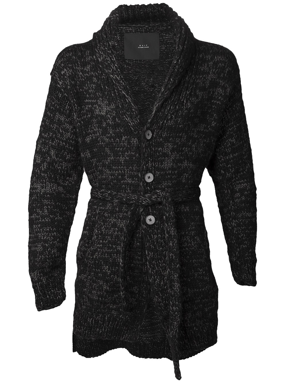 Raif adelberg Cashmere Wrap Cardigan in Black for Men | Lyst