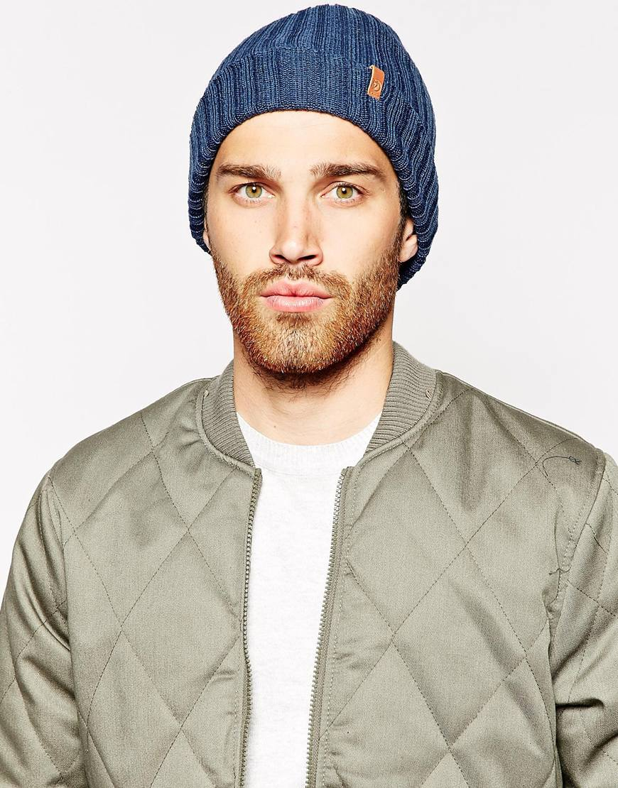 Lyst - Fjallraven Byron Beanie Hat in Blue for Men a1e87d2f1453