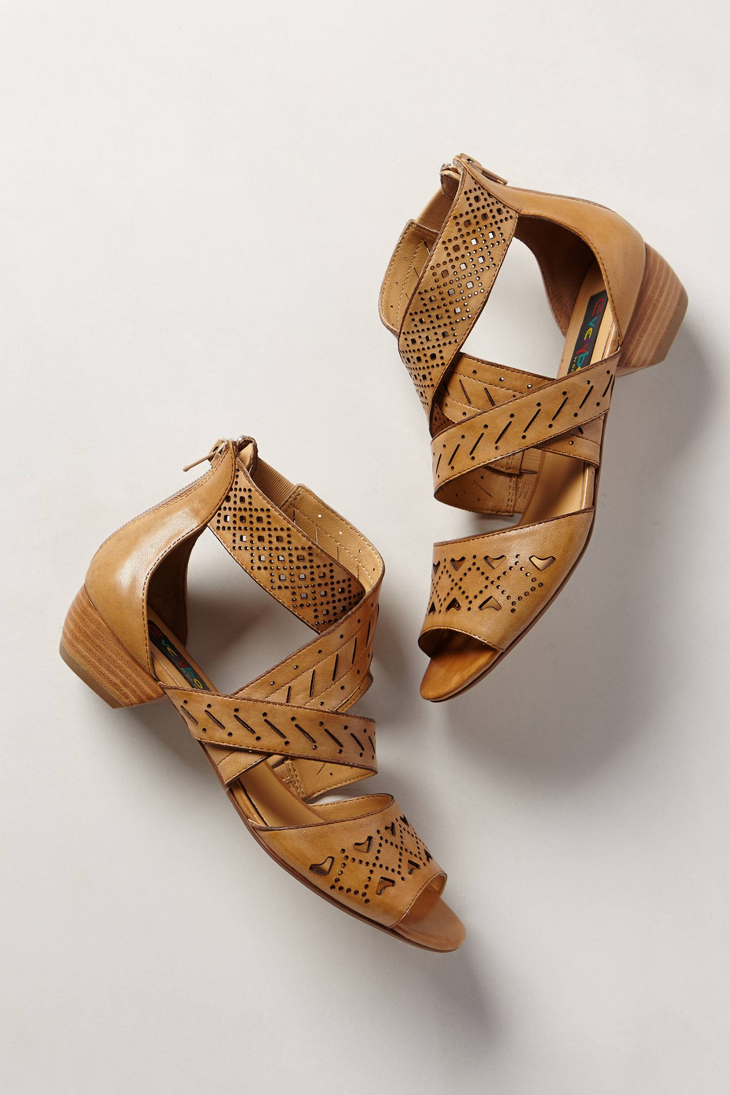 Lyst Everybody Abbey Lasercut Sandals In Brown