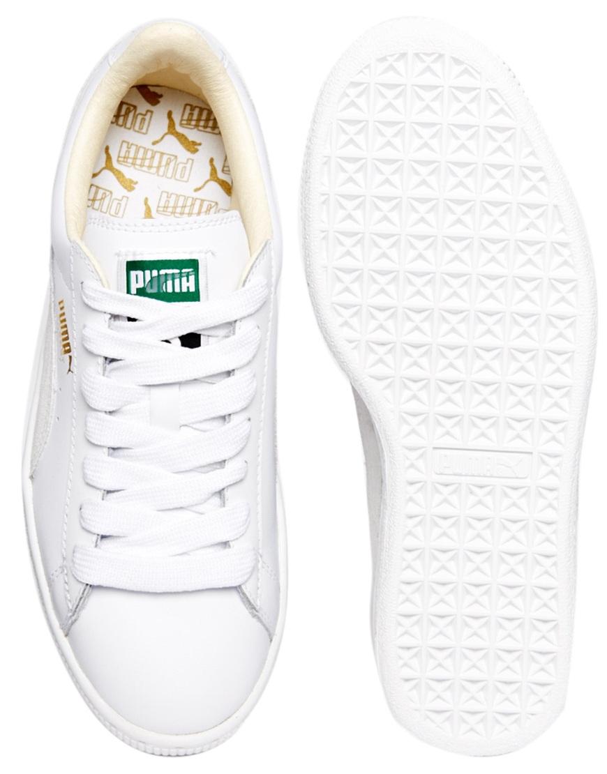 51d5c67e835 Lyst - PUMA Basket Classic White Sneakers in White