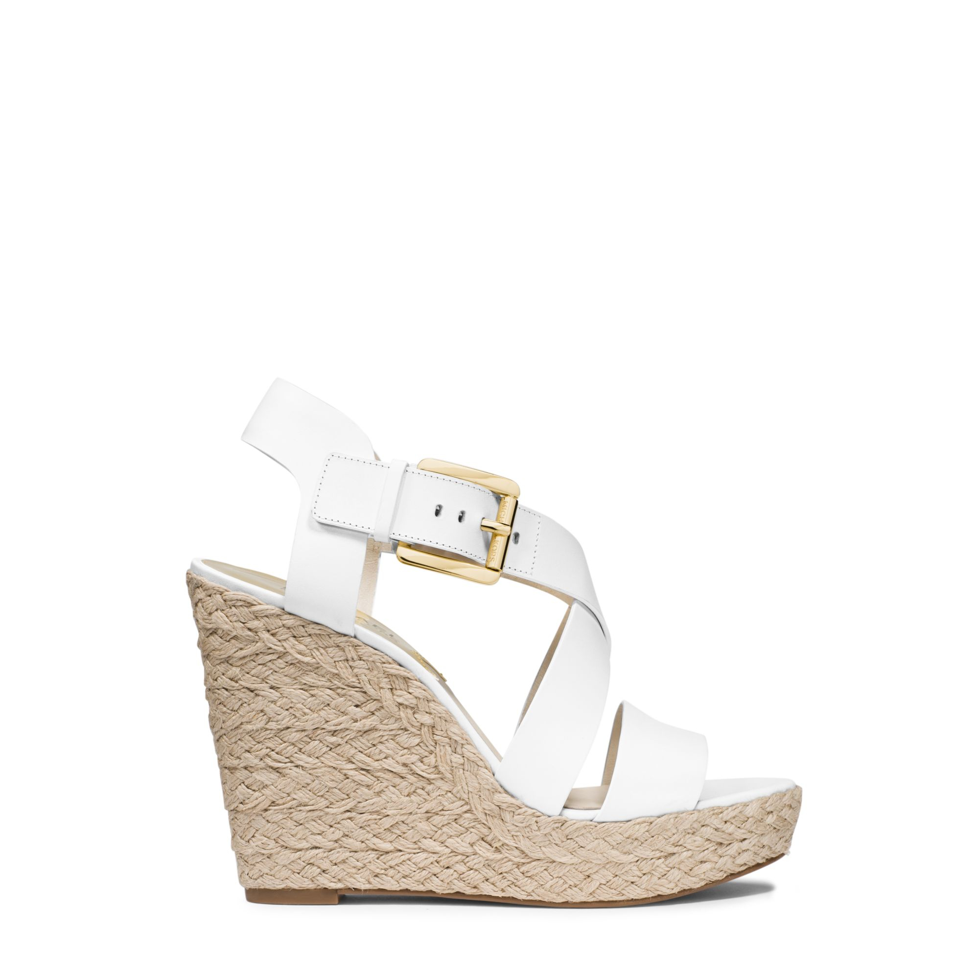 White Espadrille Wedge Shoes