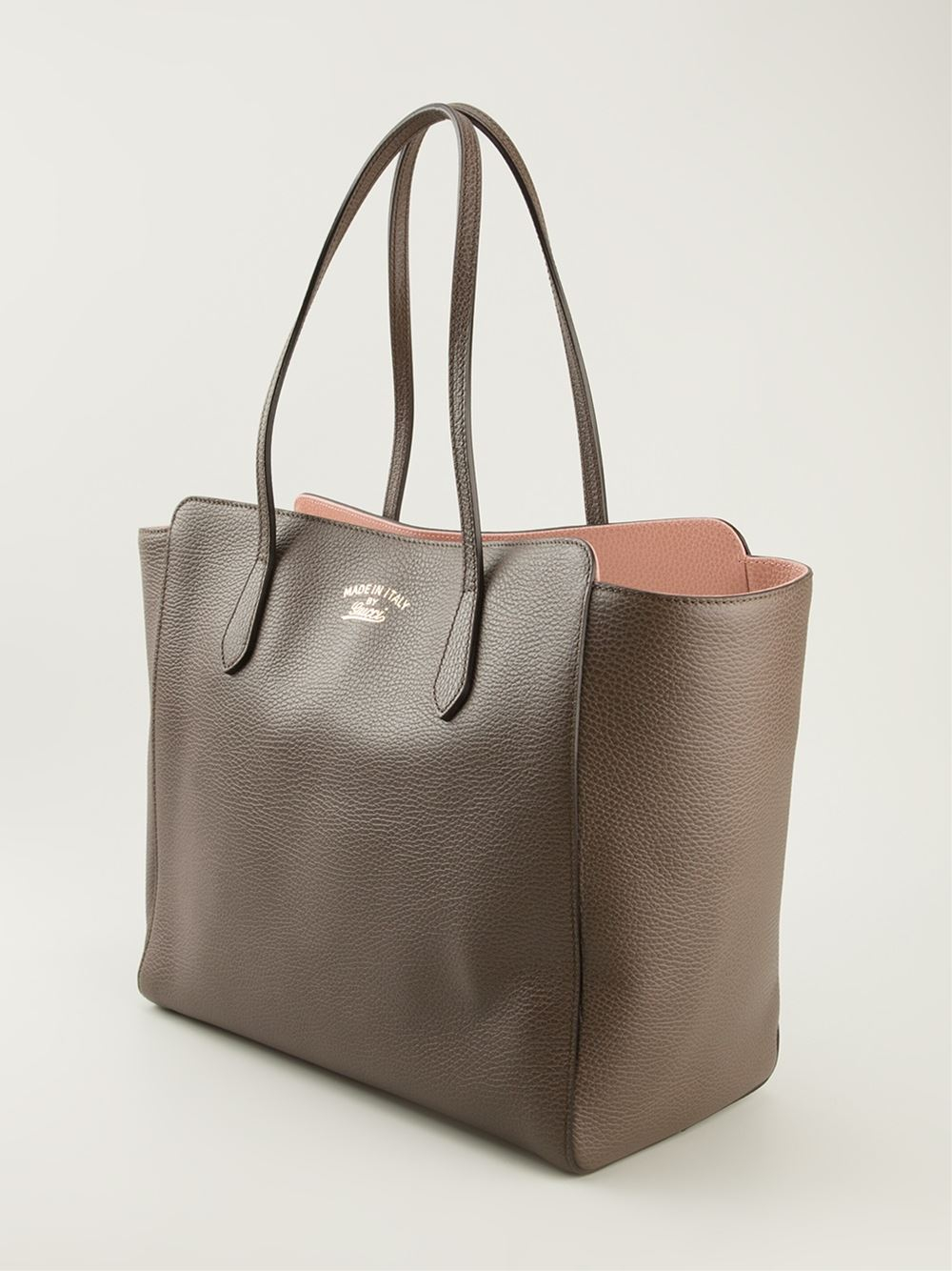 93bf00ae5ea Lyst - Gucci Swing Tote in Brown