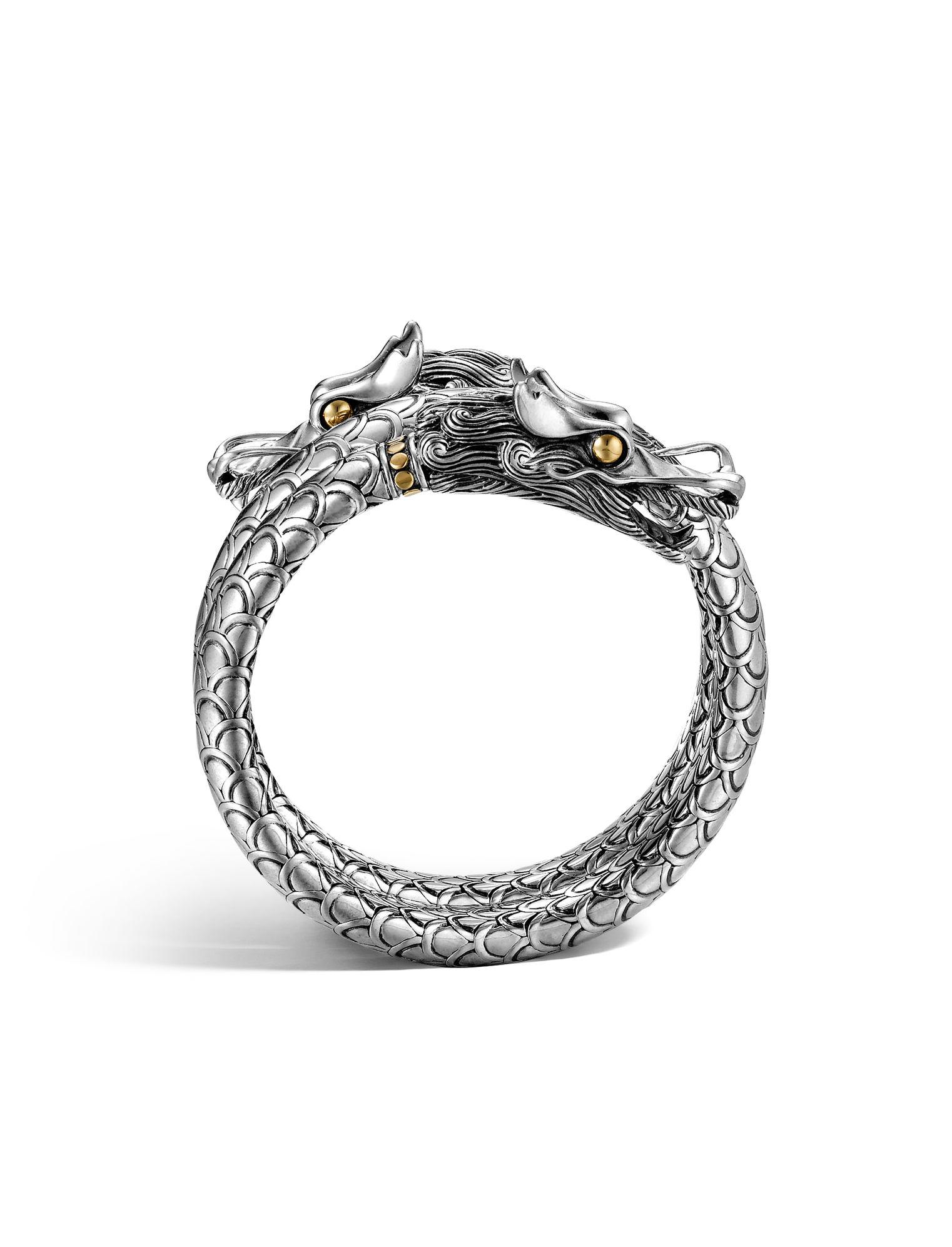 John Hardy Naga Double Coil Bracelet In Silver Lyst