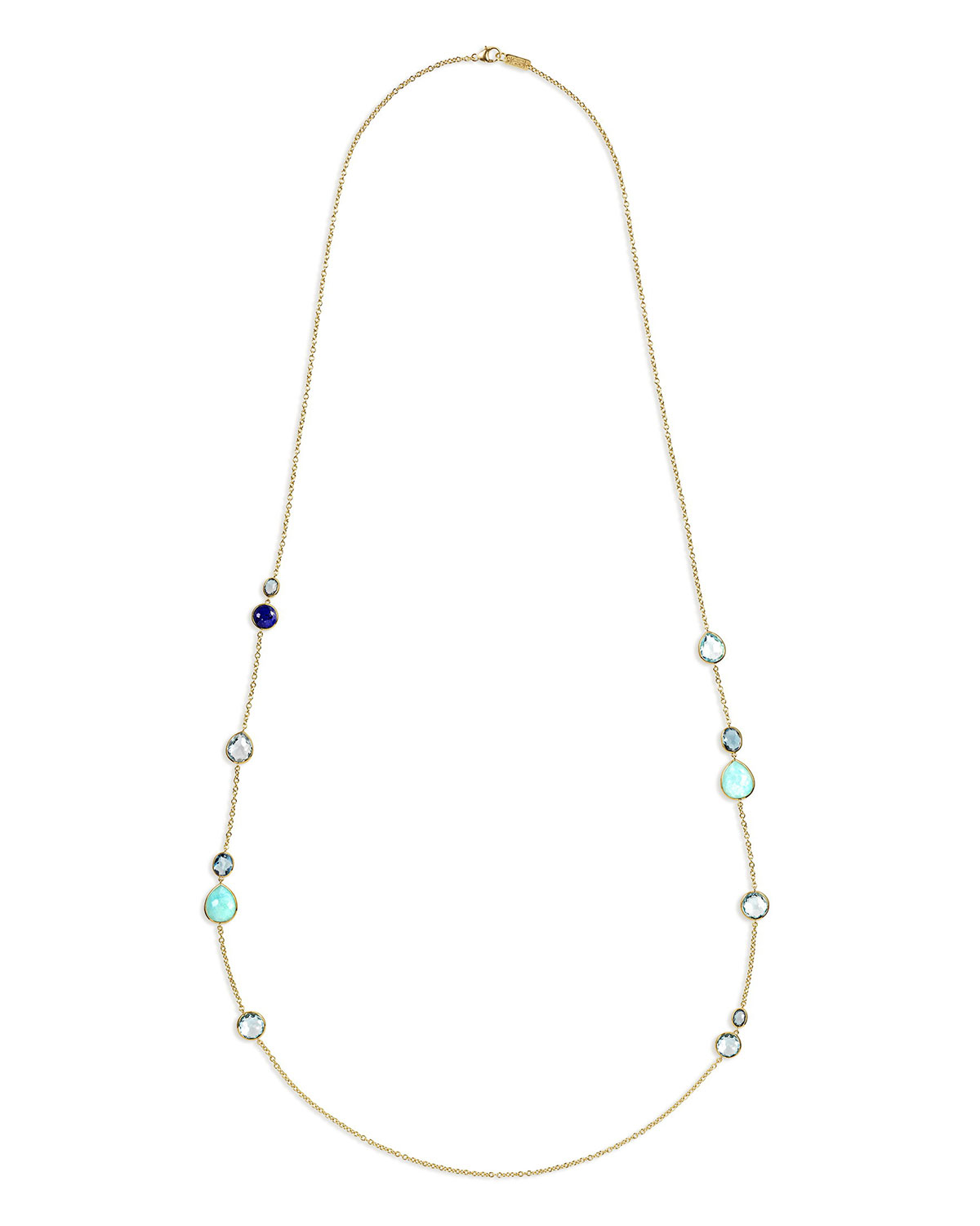 Ippolita 18K Gold Rock Candy Long Station Necklace, Waterfall