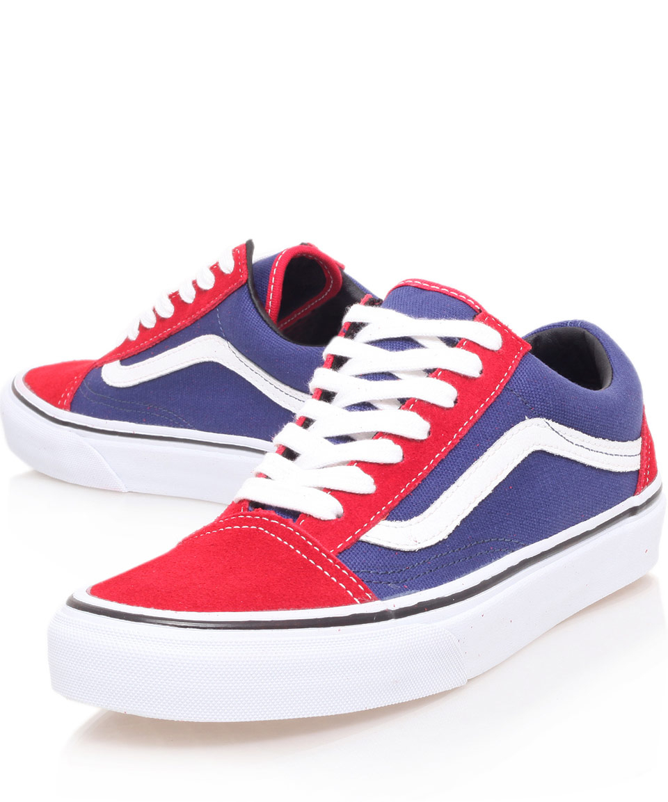 Vans Red and Purple Old Skool Trainers