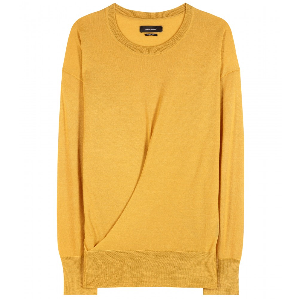 isabel marant evans cashmere and silk blend sweater in yellow lyst. Black Bedroom Furniture Sets. Home Design Ideas