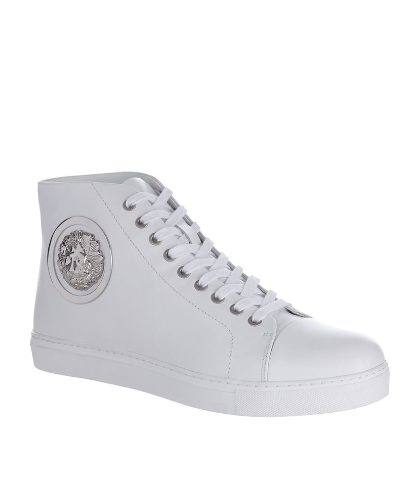 3d9665bac836 Versus Lion High-top Sneaker in White for Men - Lyst