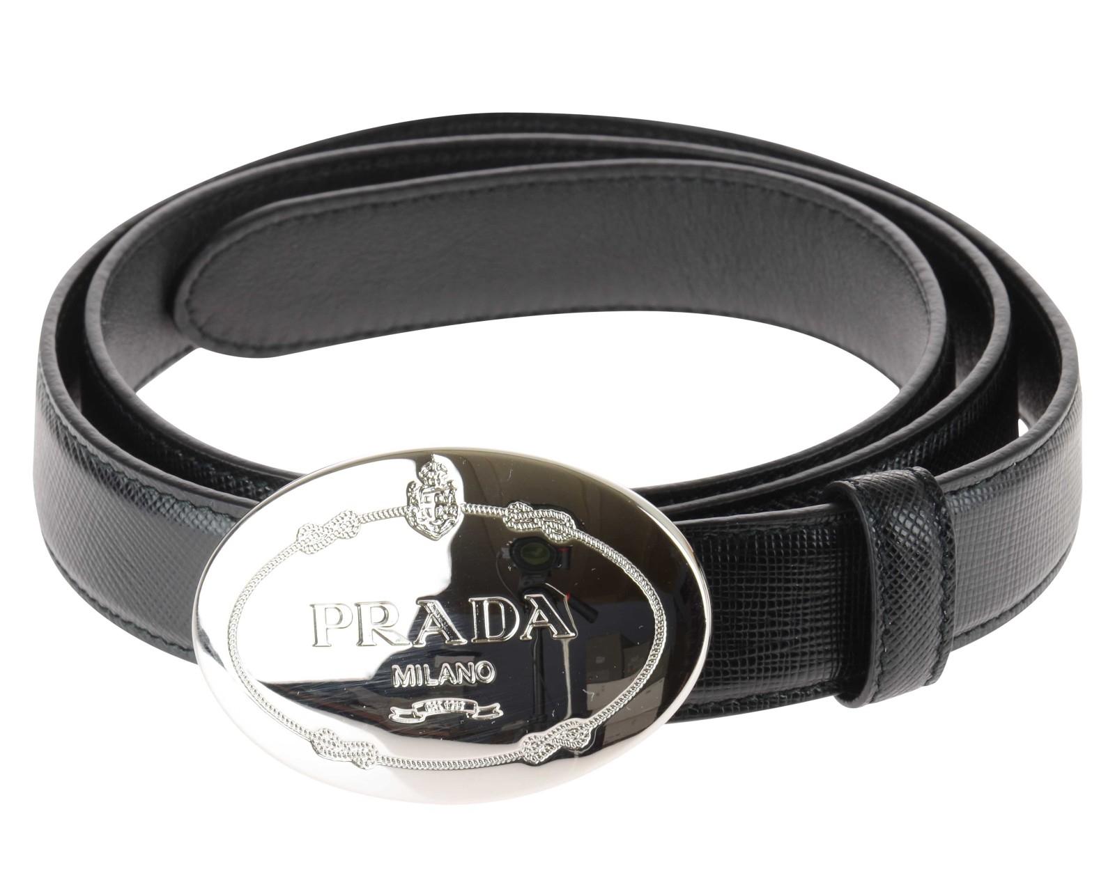 Prada Cintura-In-Saffiano-Donna in Black (Nero) | Lyst
