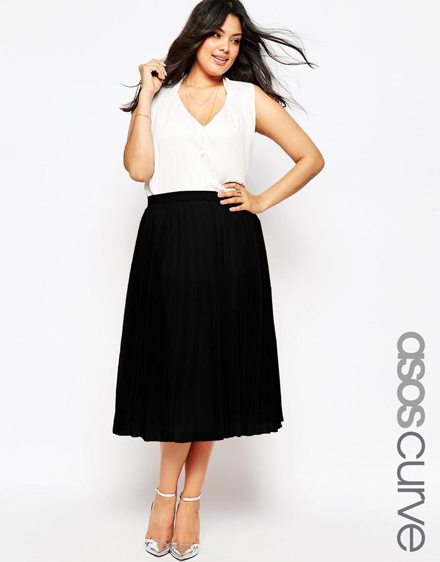 d3aa8a9265d6 ASOS Curve ASOS DESIGN Curve button front midi skirt with .