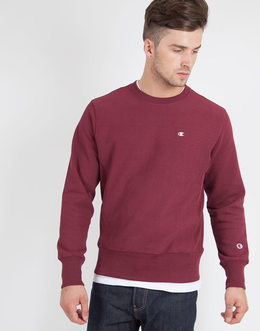 Champion Reverse Weave Crew Neck Sweatshirt Burgundy in Purple for ...