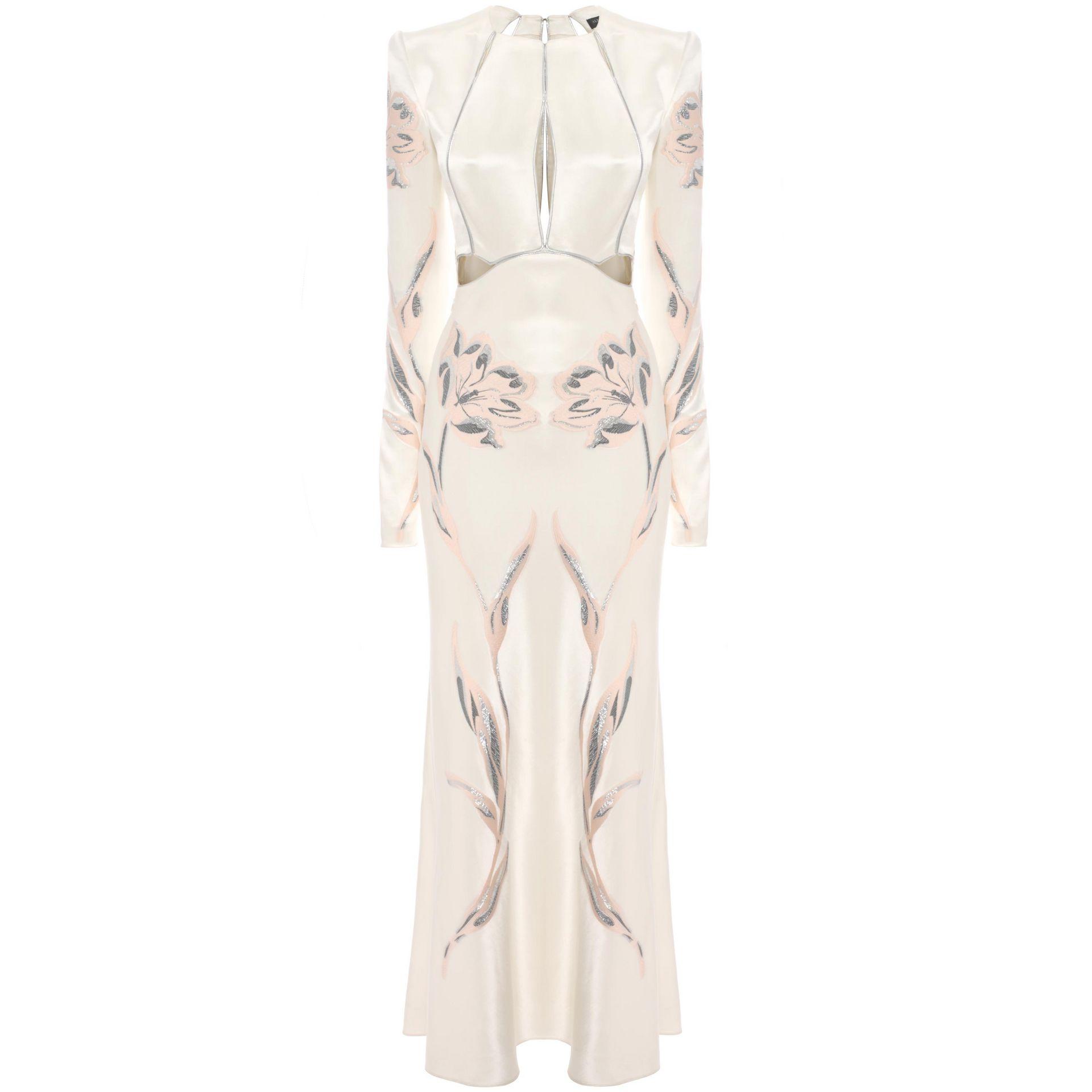 Sarah Bentley Clothing: Alexander McQueen Tulip Jacquard Slash A-Line Dress In