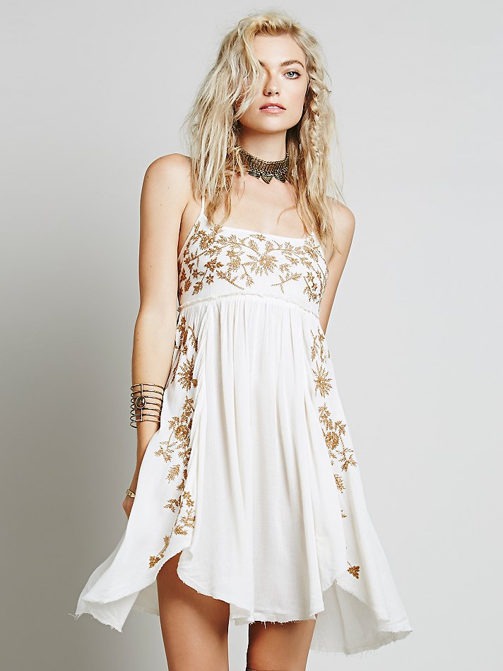 Lyst Free People Intimately Womens Embroidered Babydoll