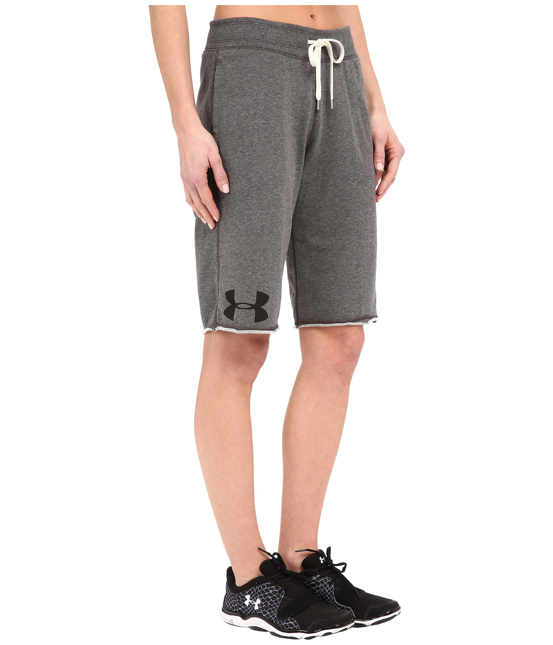 Lyst - Under Armour Favorite French Terry Boyshorts in Gray 0d4a509309b2