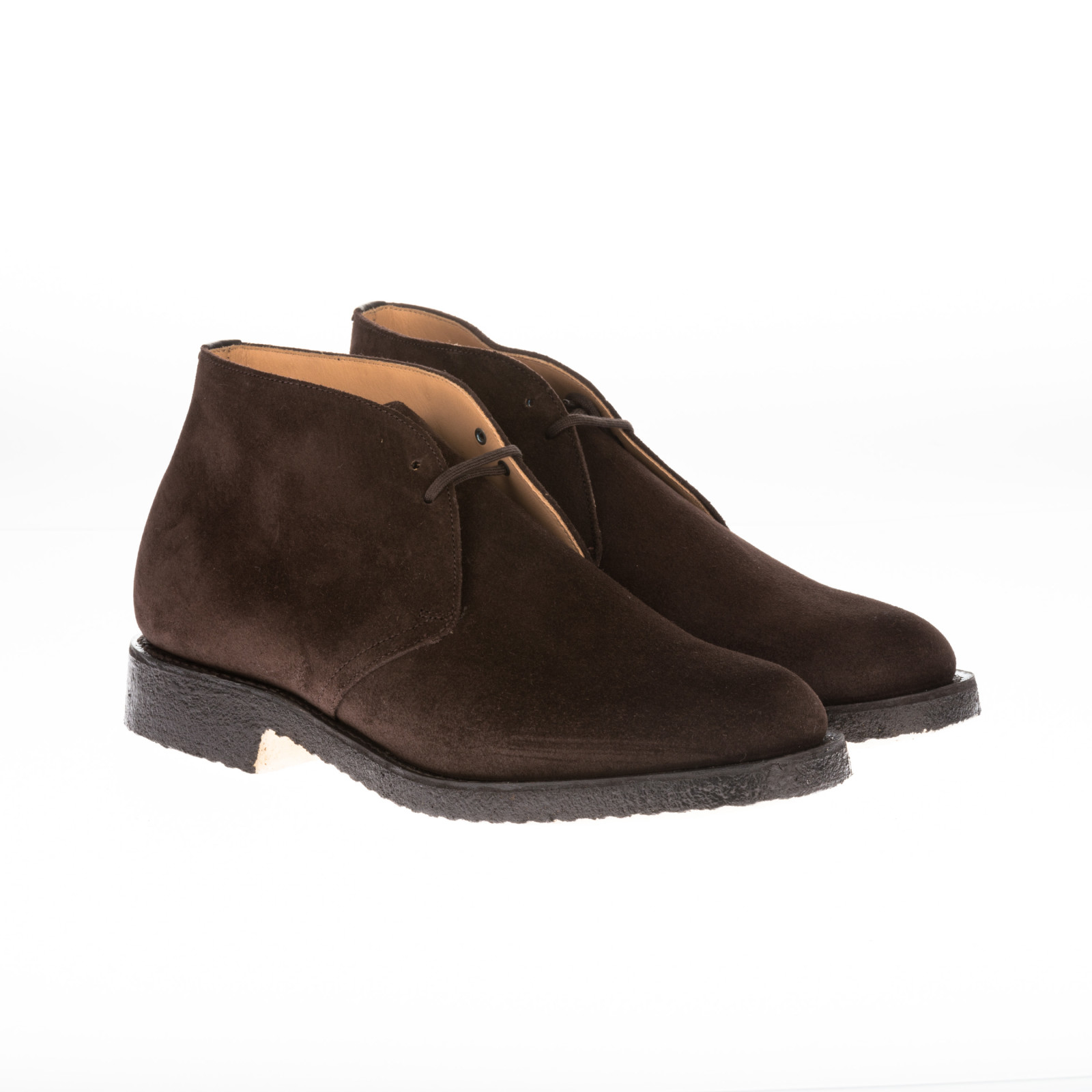 church s churchs brown suede ankle boots in brown for
