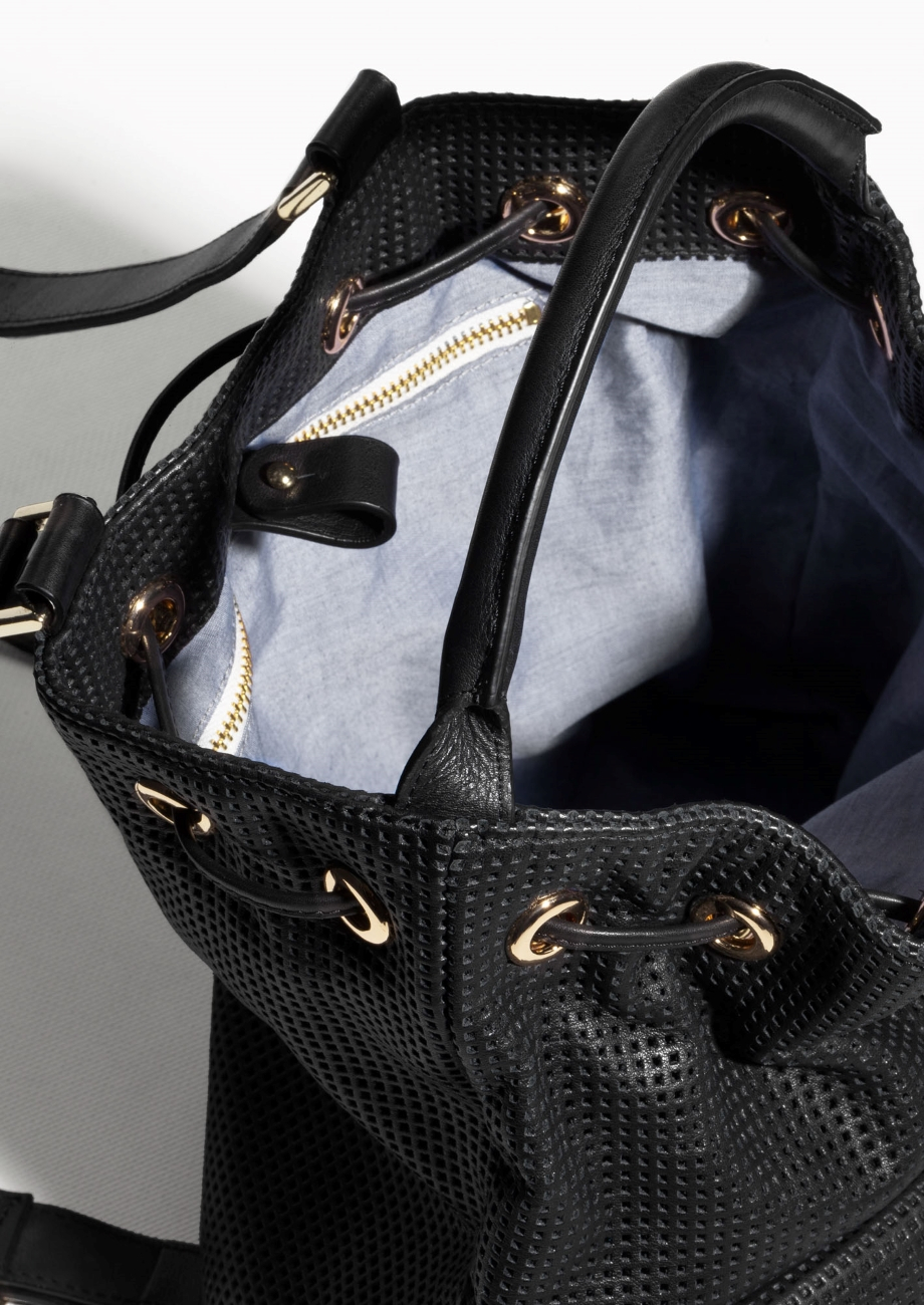 & Other Stories Clare Vivier Leather Backpack in Black